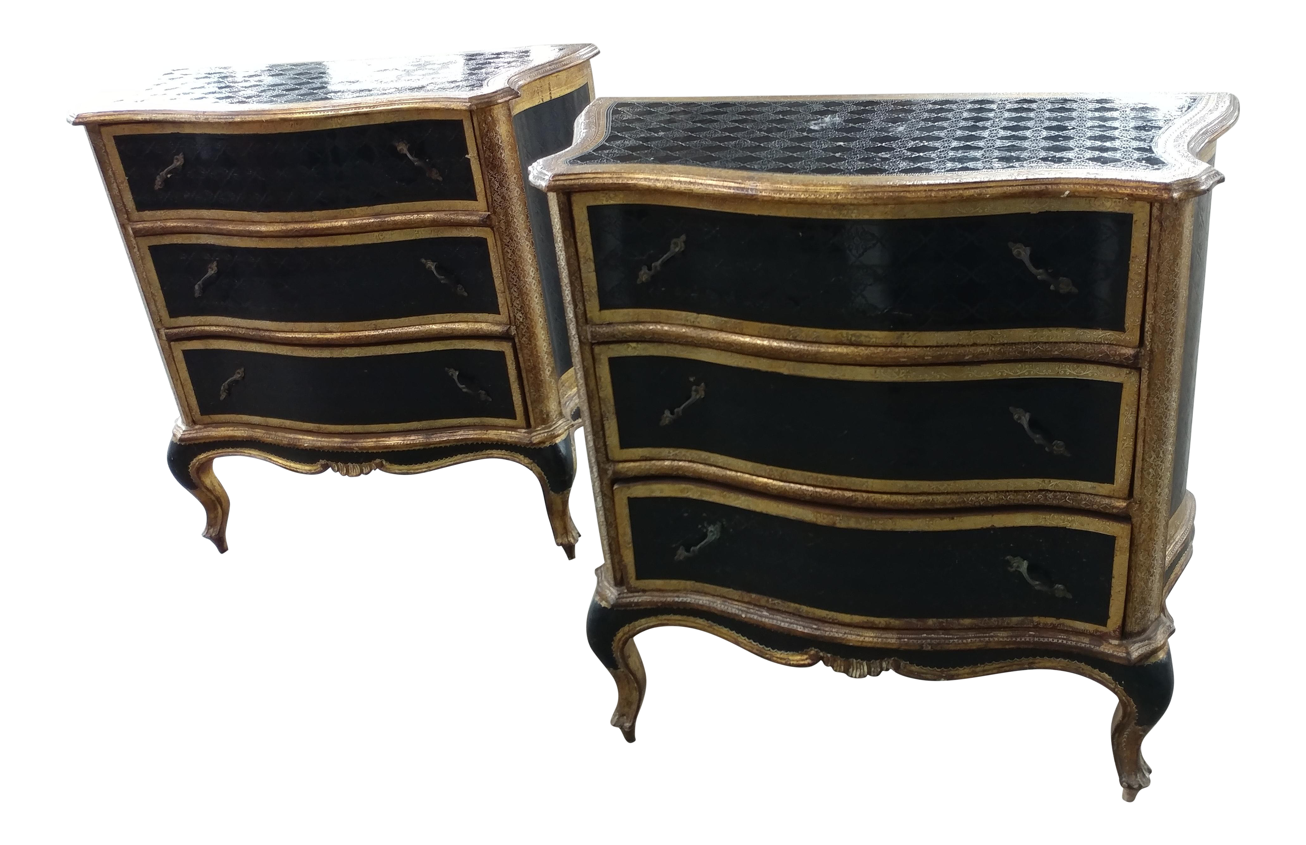 Popular 225 List Black Lacquer Nightstand