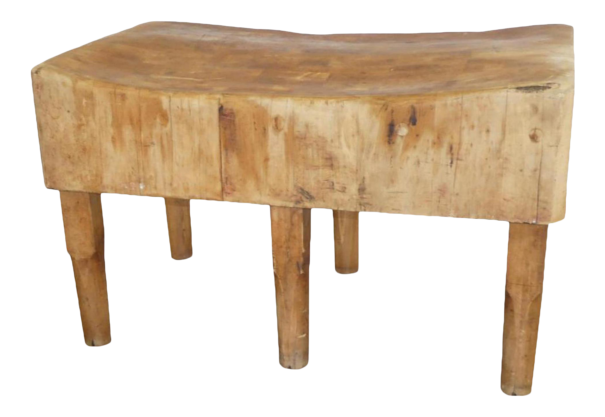 Antique Six Legs Butcher Block Table Kitchen Island By Bally Block Co Chairish