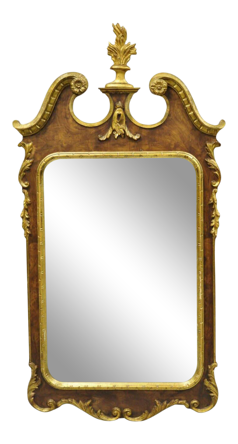 Decorative Crafts Inc American Federal Parcel Gilt Wall Mirror