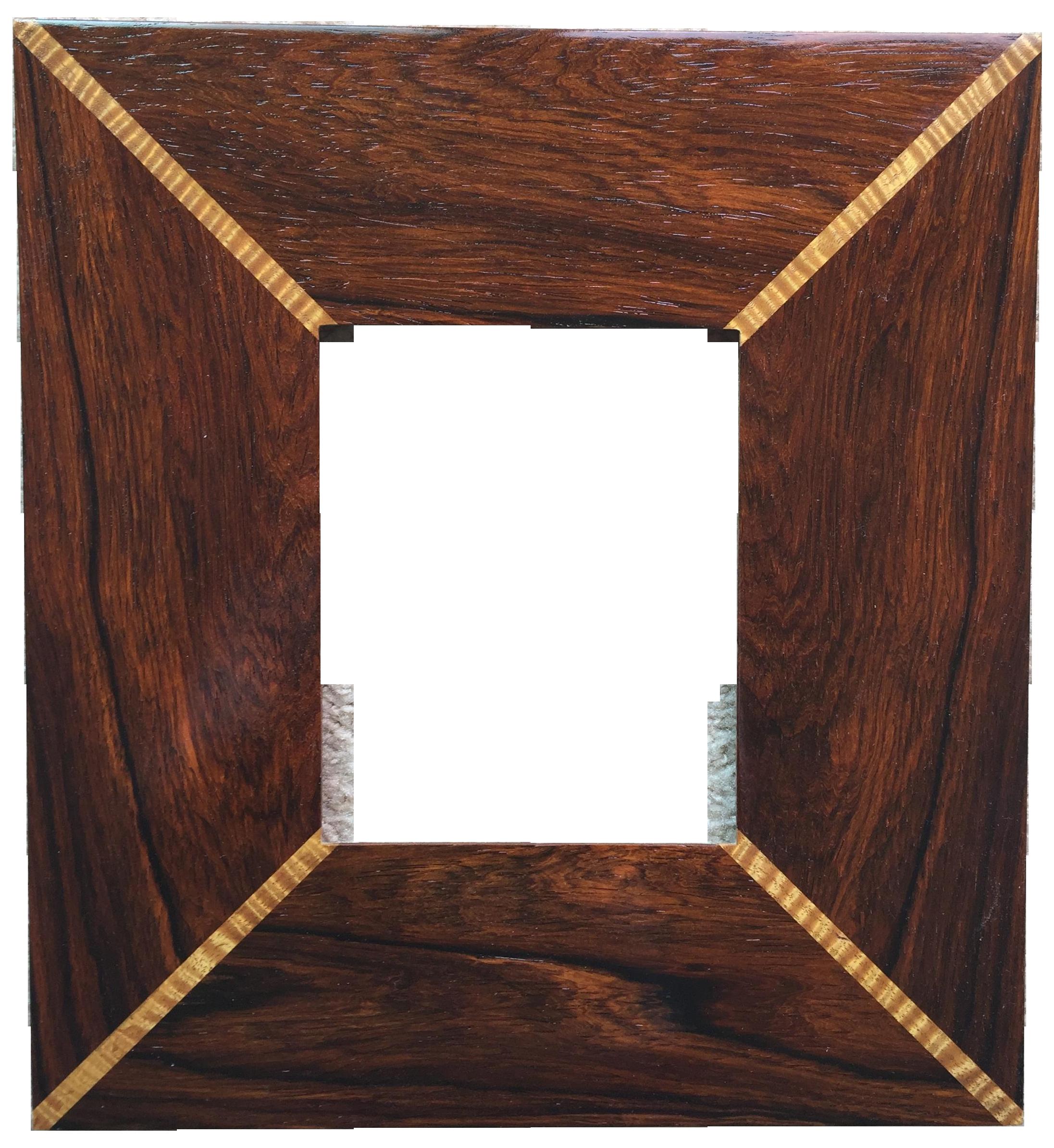 Custom handmade exotic wood inlaid frame chairish jeuxipadfo Images