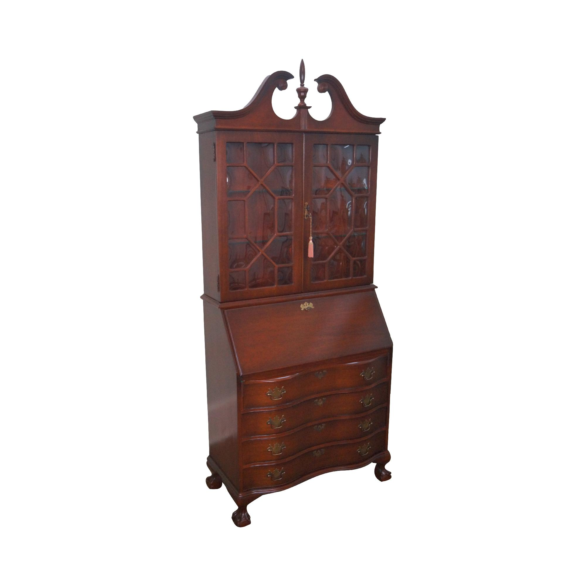 Vintage Jasper Cabinet Mahogany Chippendale Style