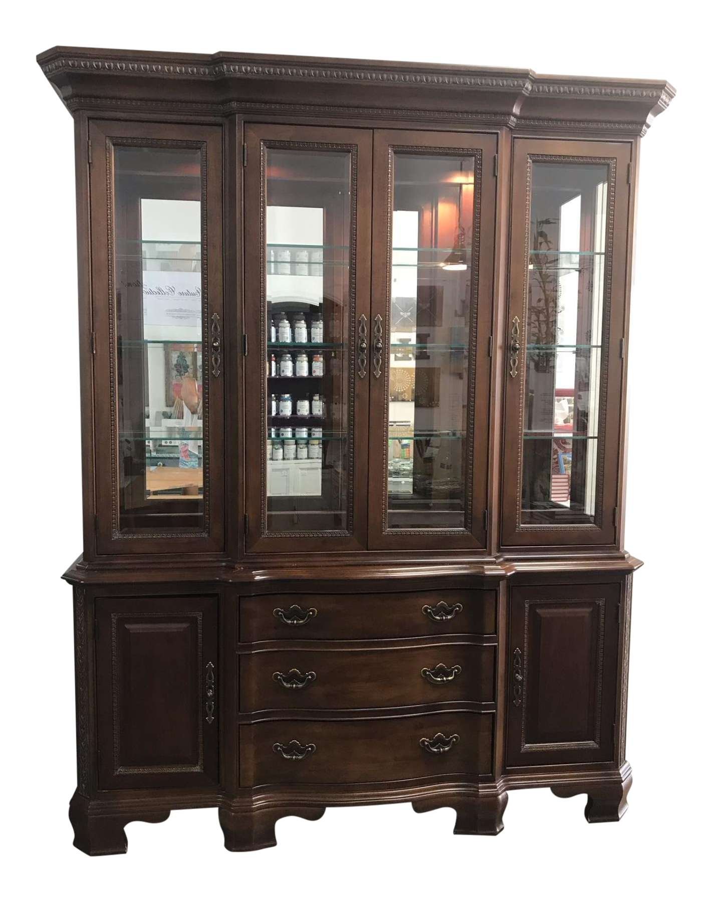 American Drew Company Cherry China Cabinet Chairish