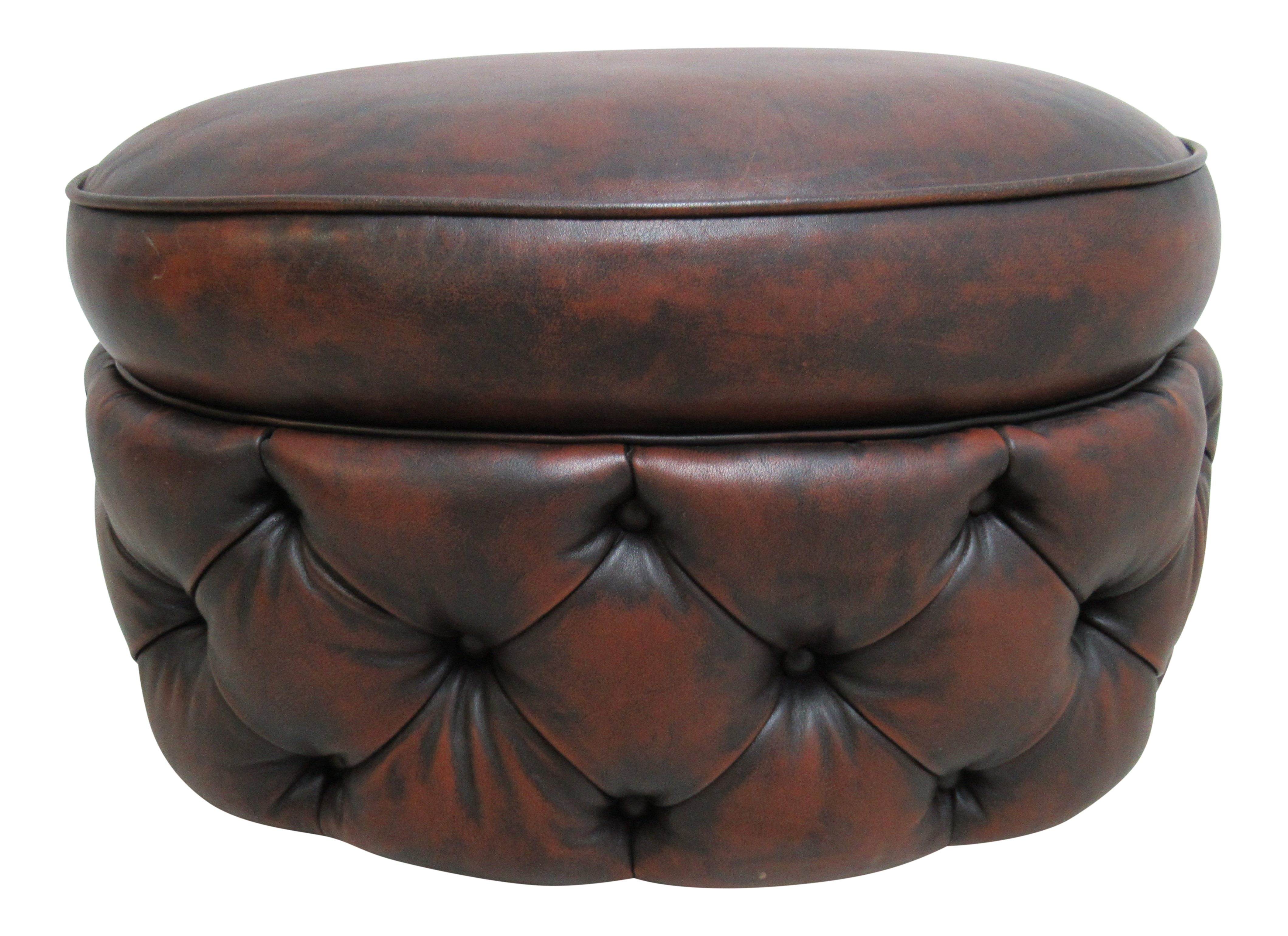 Modern council furniture new orleans leather chesterfield foot stool ottoman chairish