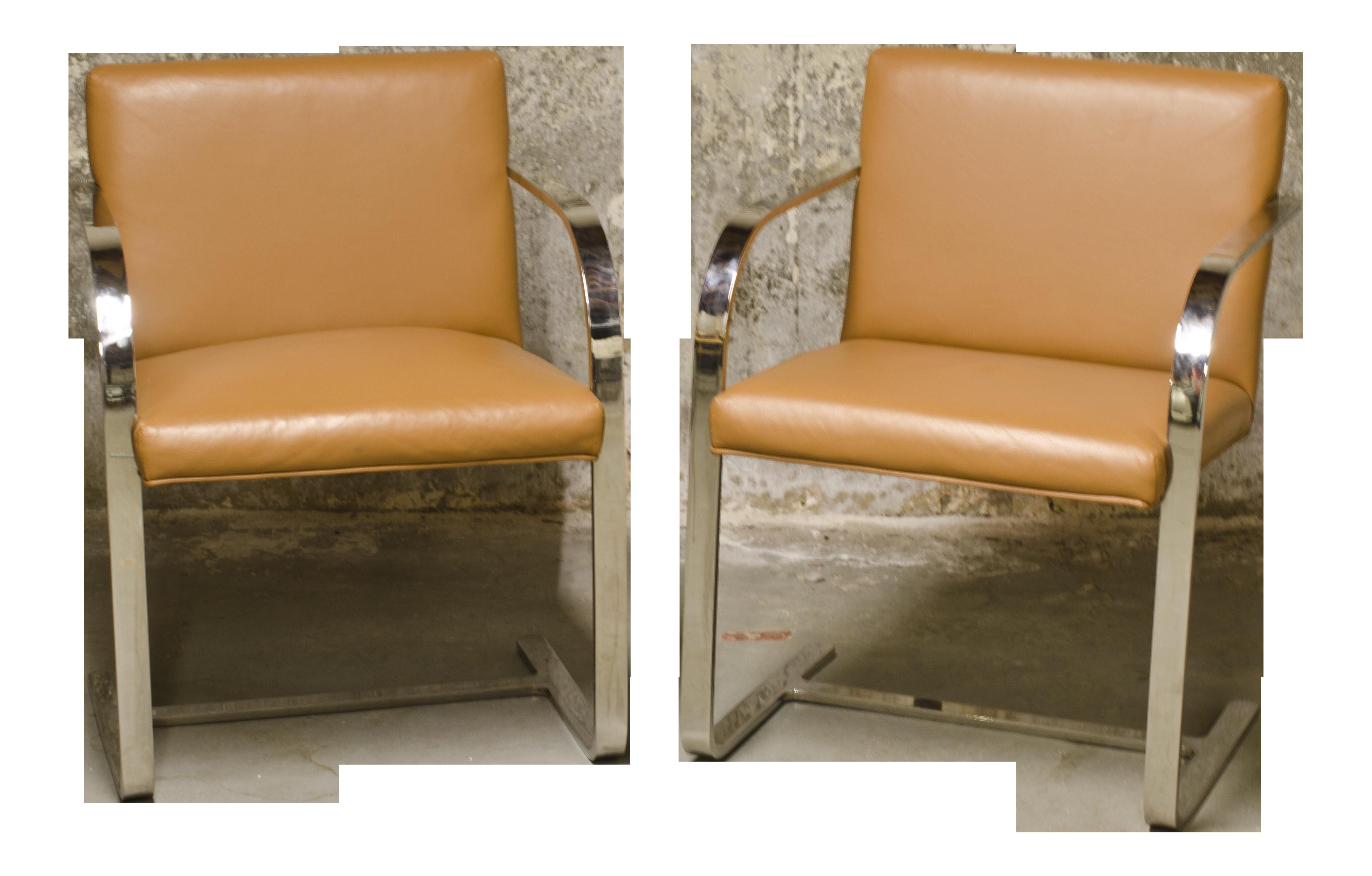 1930s modern knoll brno flatbar beige side chairs a pair chairish
