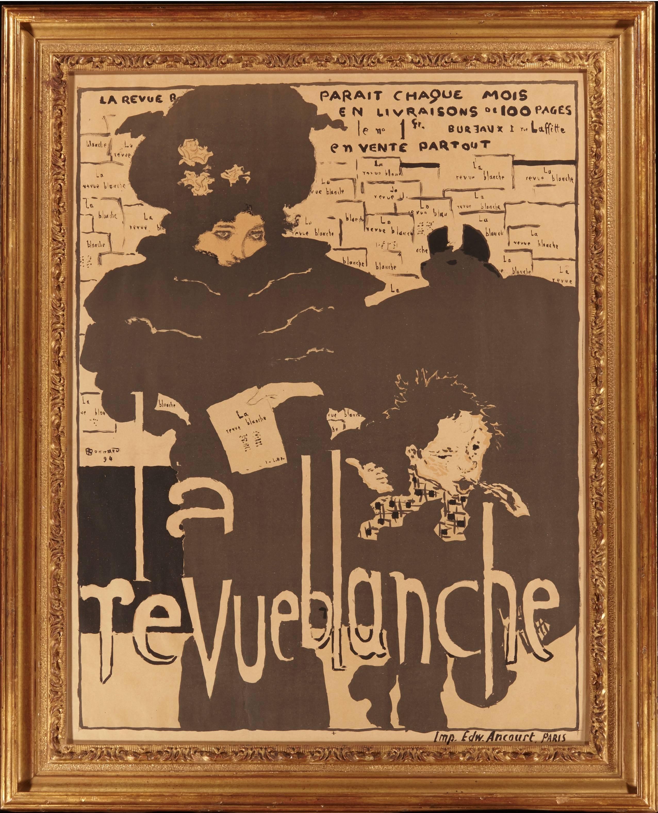 Chaise Style Art Nouveau late 19th century pierre bonnard la revue blanche art nouveau poster