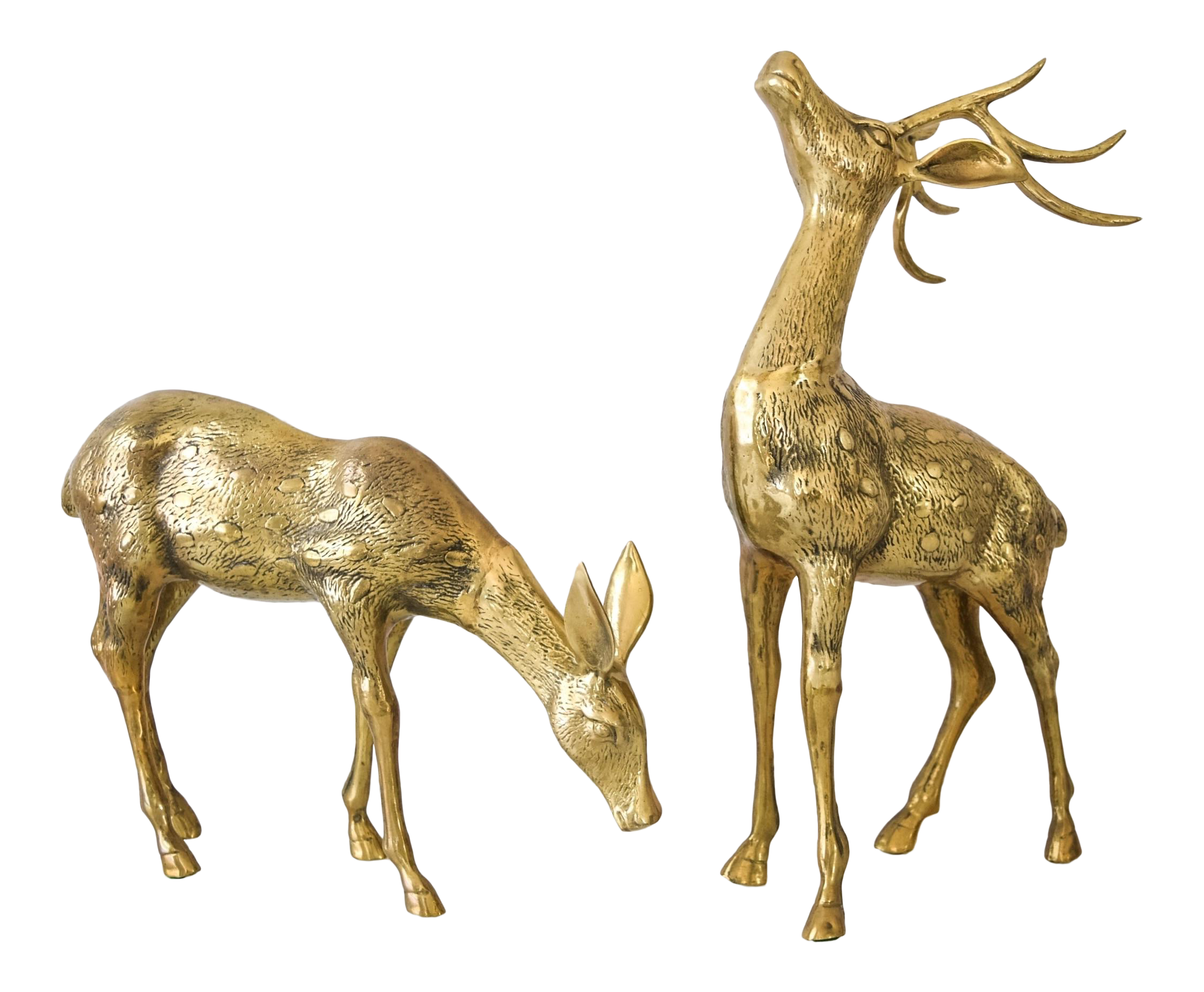 resin deer plastic decor bronze statues outdoor