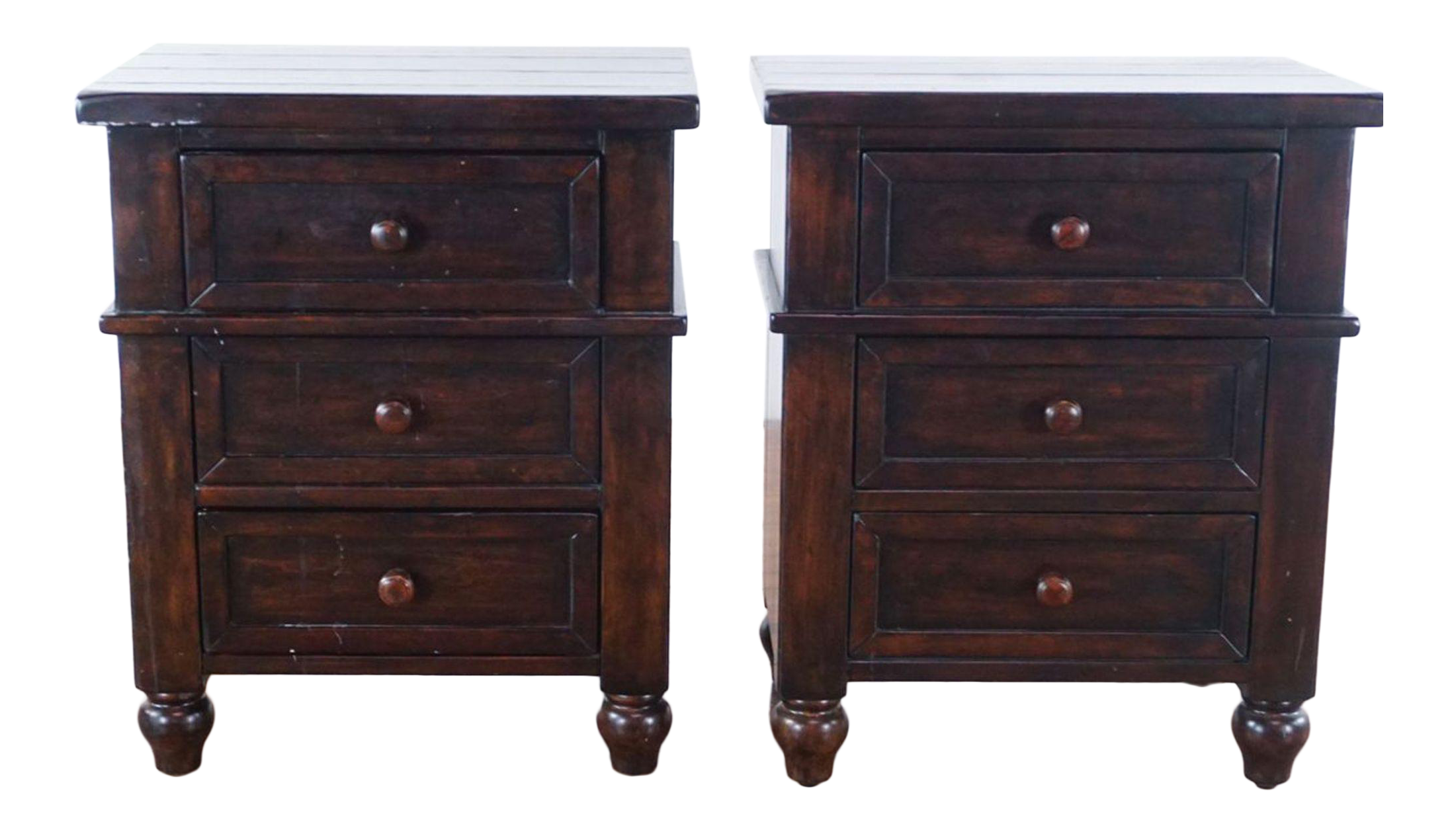 Pottery Barn Cortina Bedside Tables A Pair