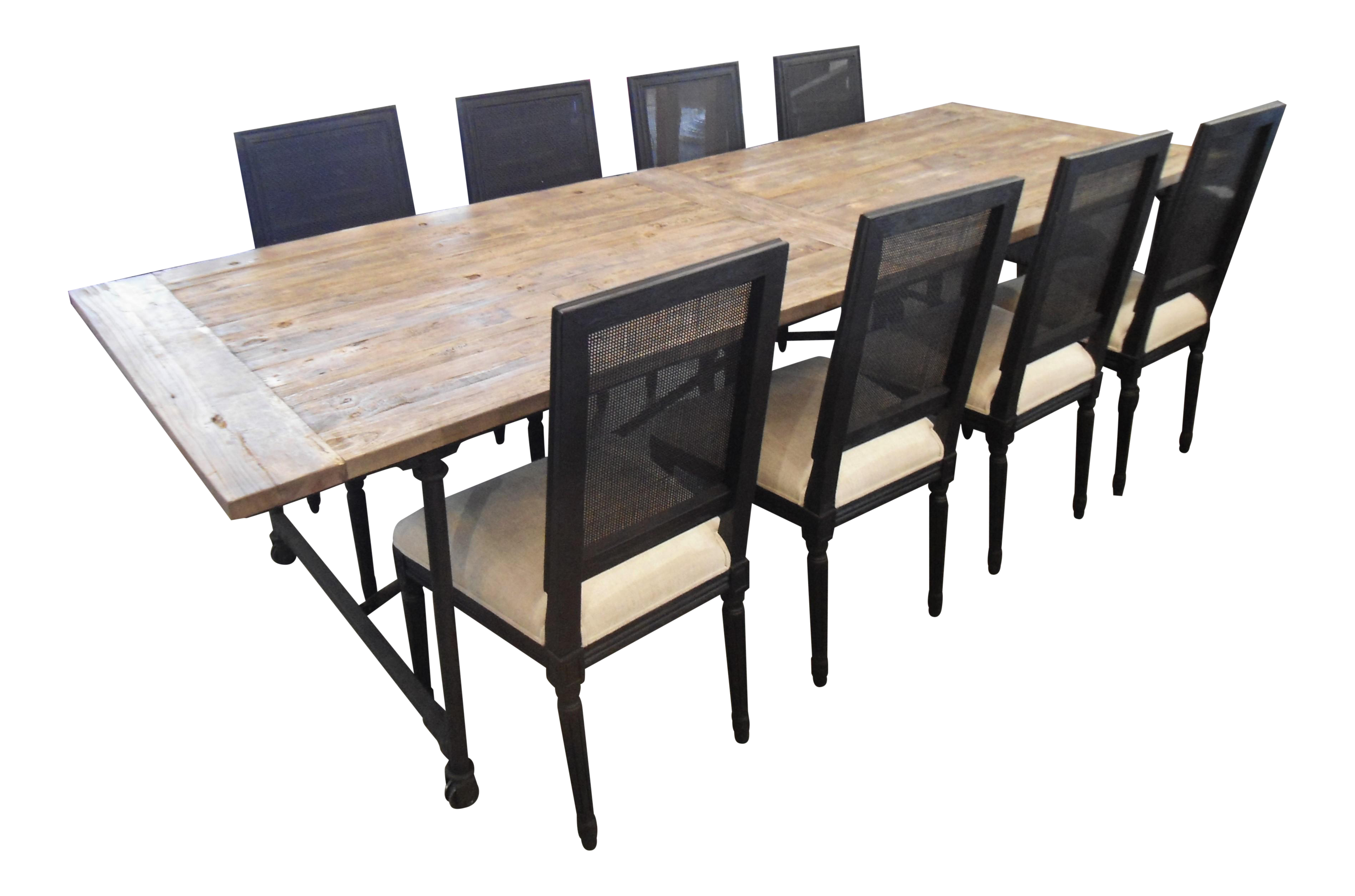 Restoration Hardware Flatiron Dining Table & Chairs | Chairish