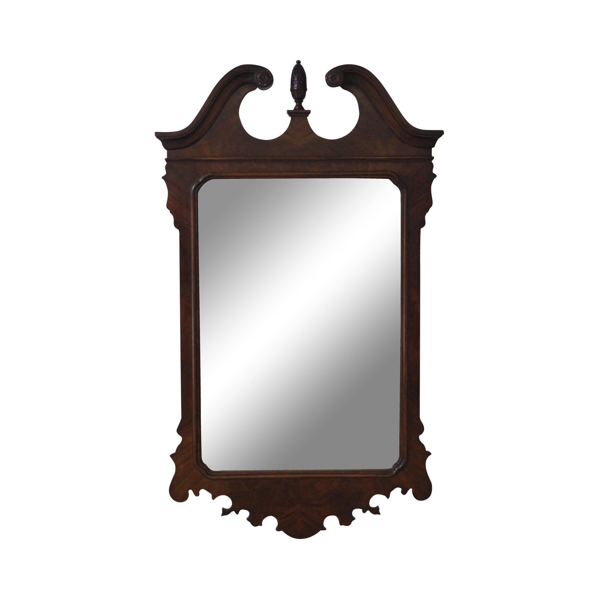drexel heritage mahogany chippendale mirror chairish