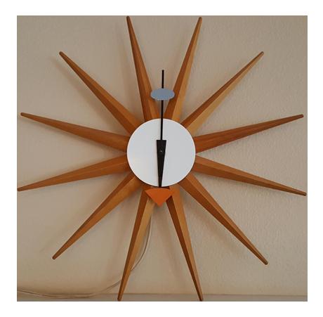 Vintage George Nelson Starburst Clock | Chairish