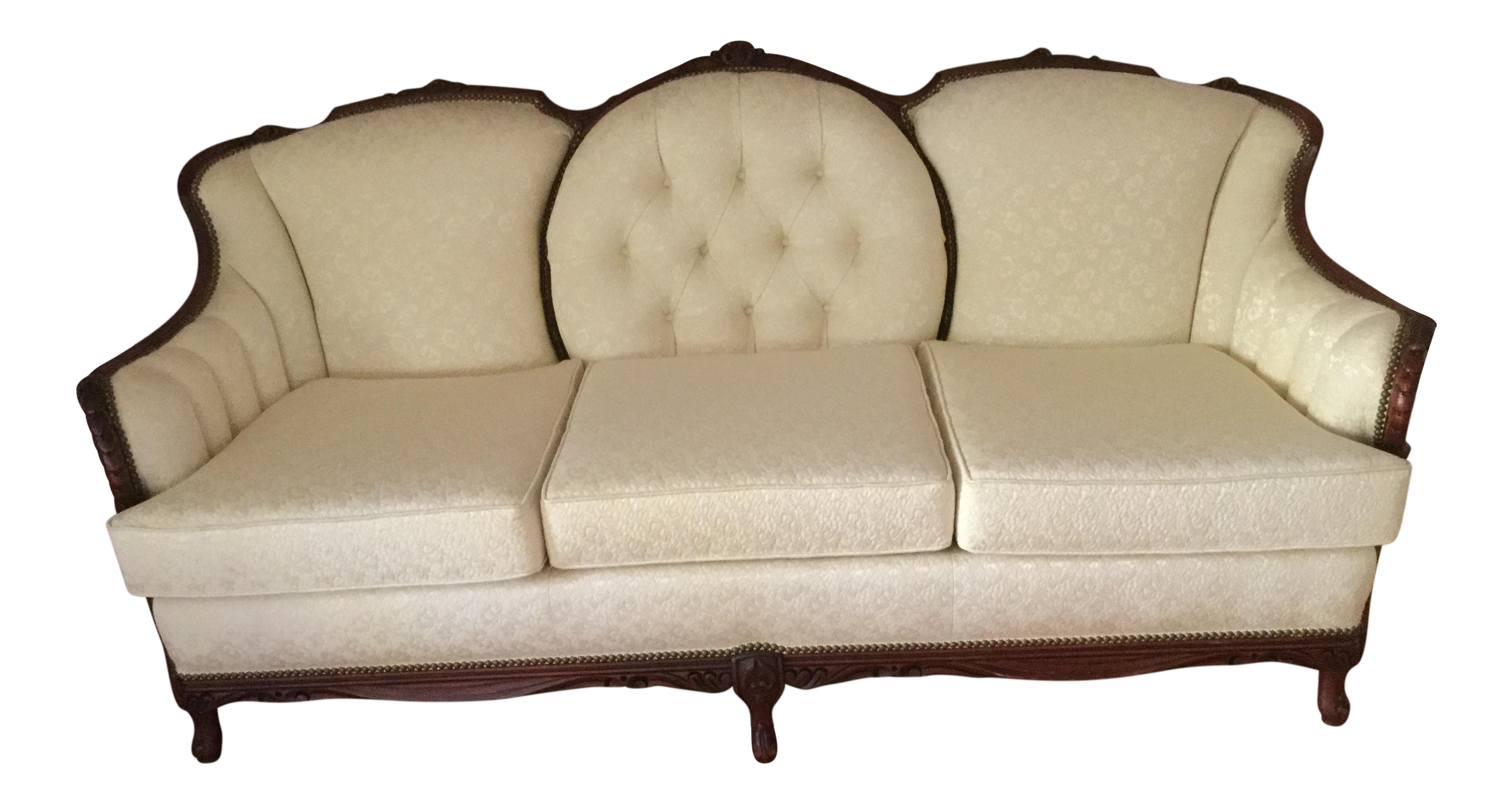 Vintage victorian style couch chairish