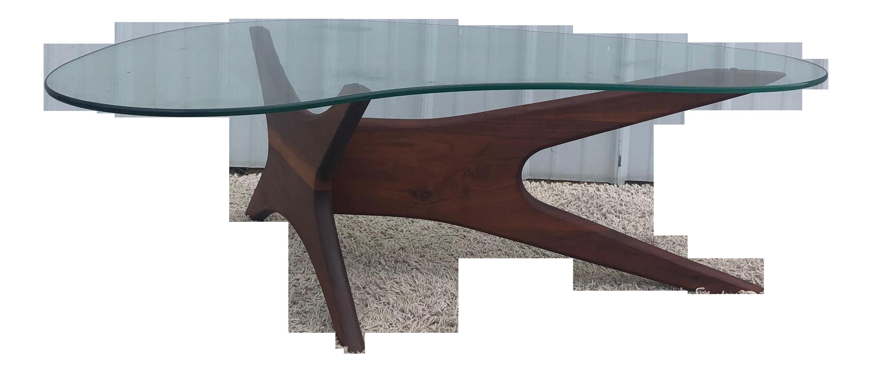 Adrian Pearsall Jacks Coffee Table With Boomerang Glass Top Chairish