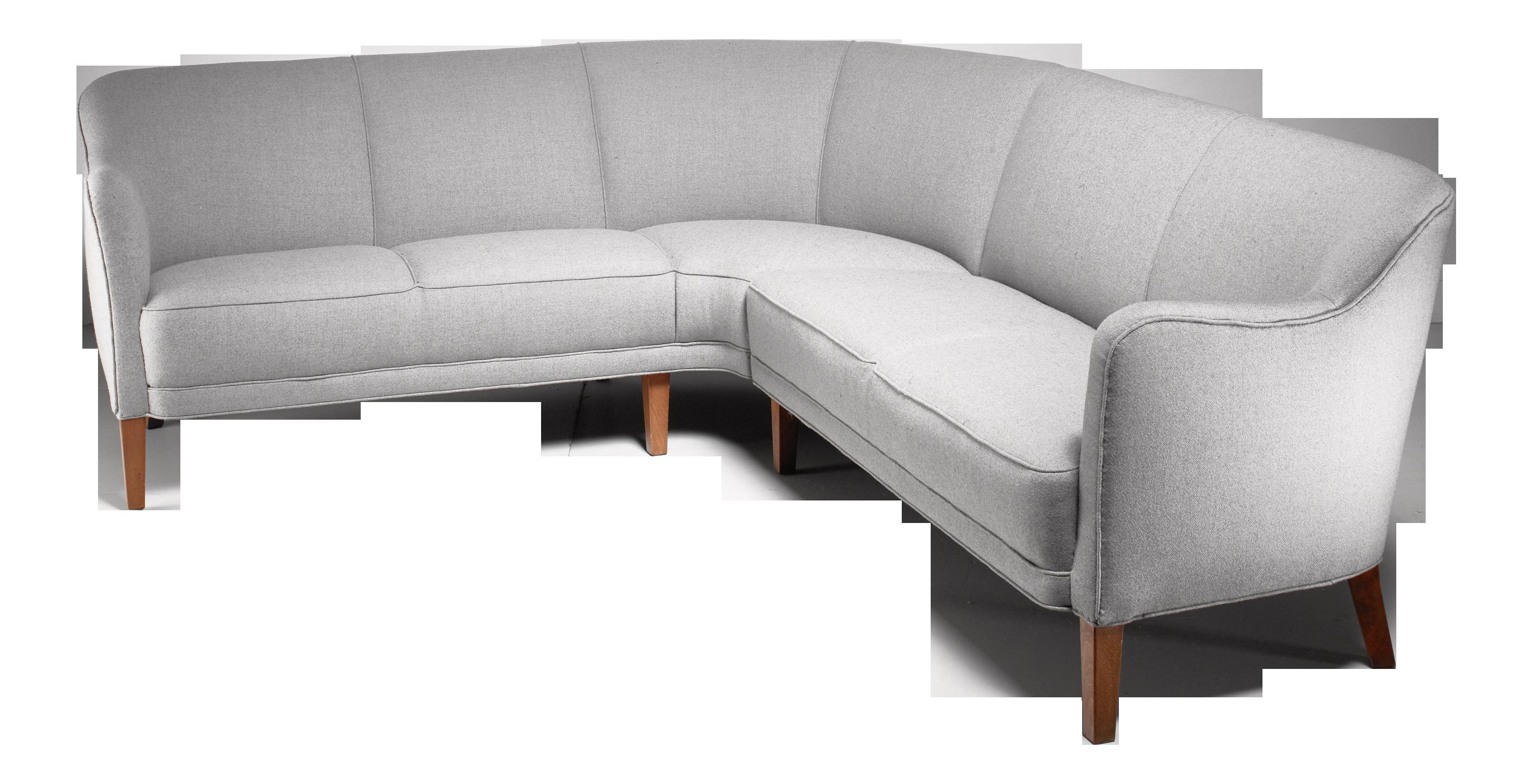 High-End Large Corner Sofa, Denmark, 1940s | DECASO