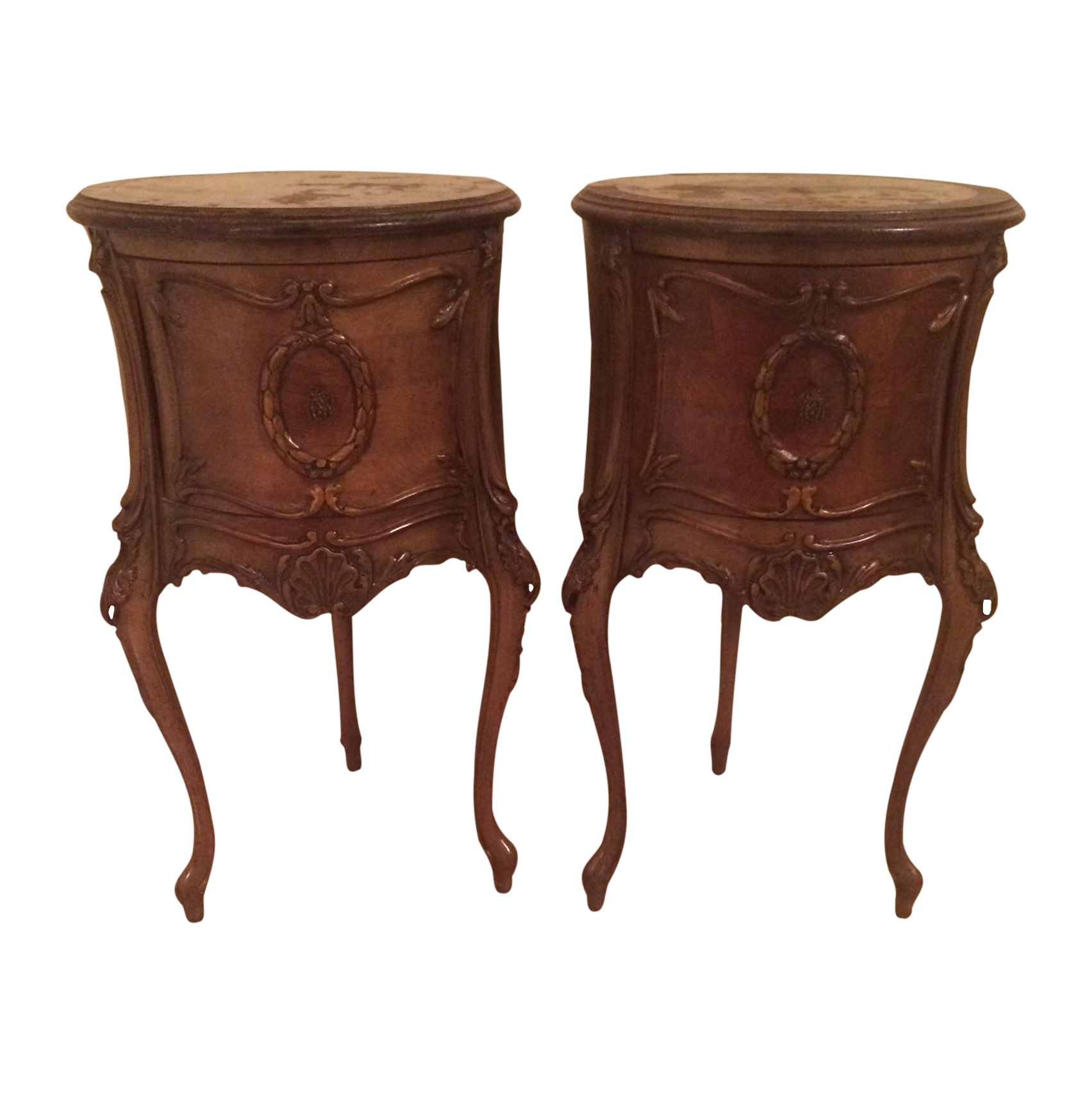 end tables vintage antique end tables a pair chairish 3570