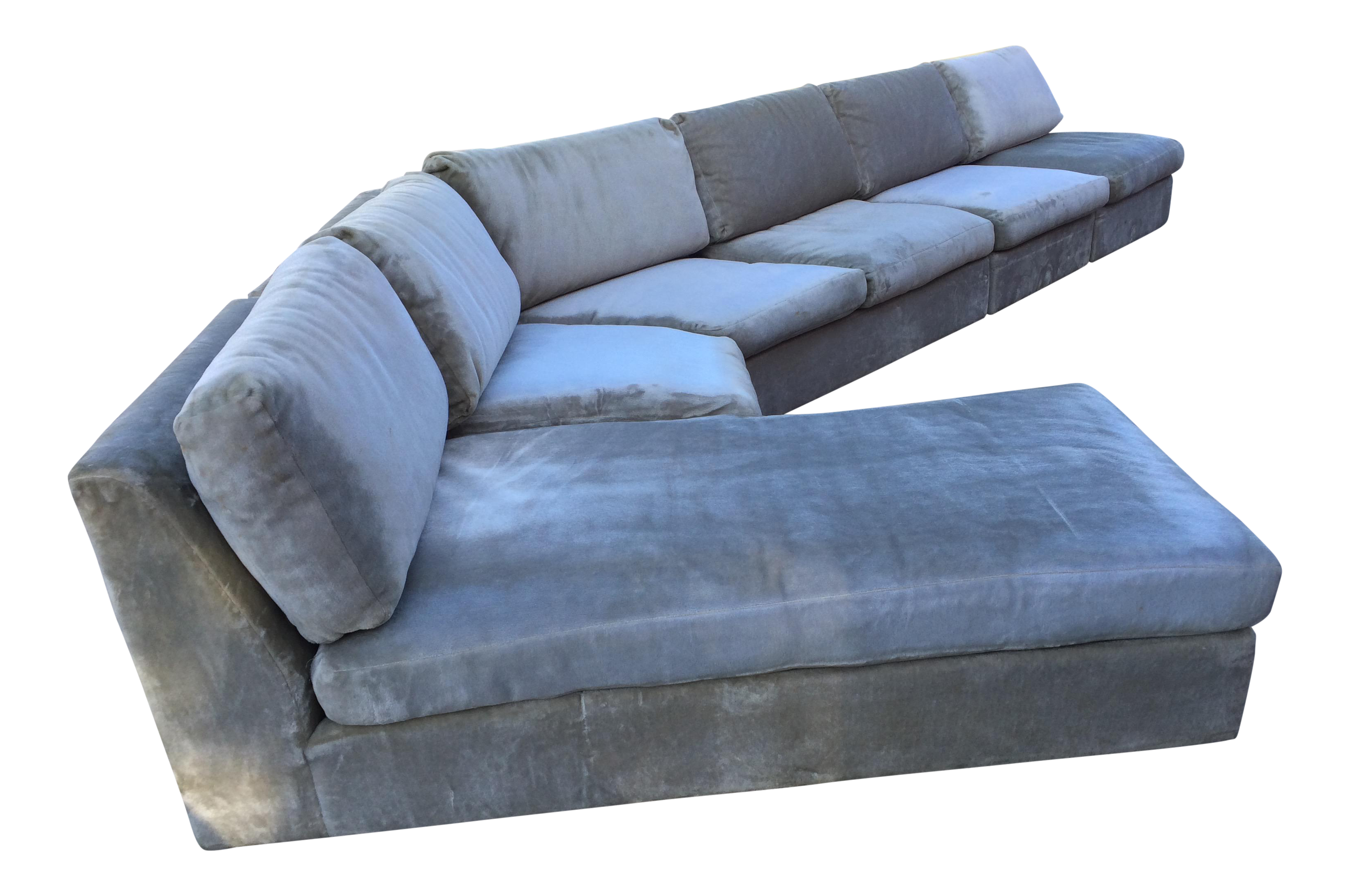 1960s mid century modern curved sectional sofa style of for Mid century modern curved sectional sofa