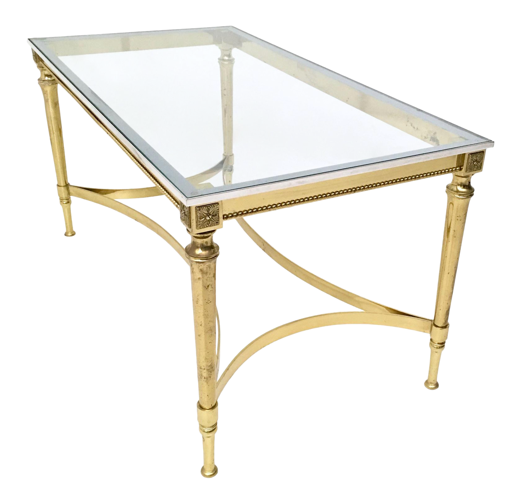 Fine Crystal, Brass And Aluminum Coffee Table, Italy, 1950 1960S -