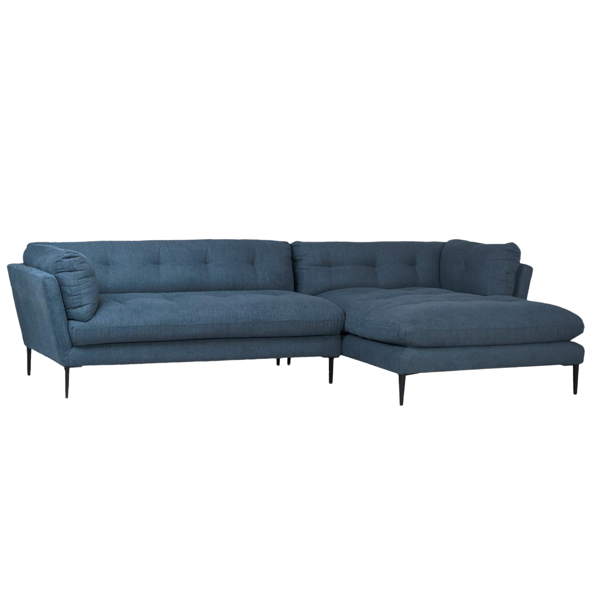Pleasing Midcentury Blue Chaise Sofa Ncnpc Chair Design For Home Ncnpcorg