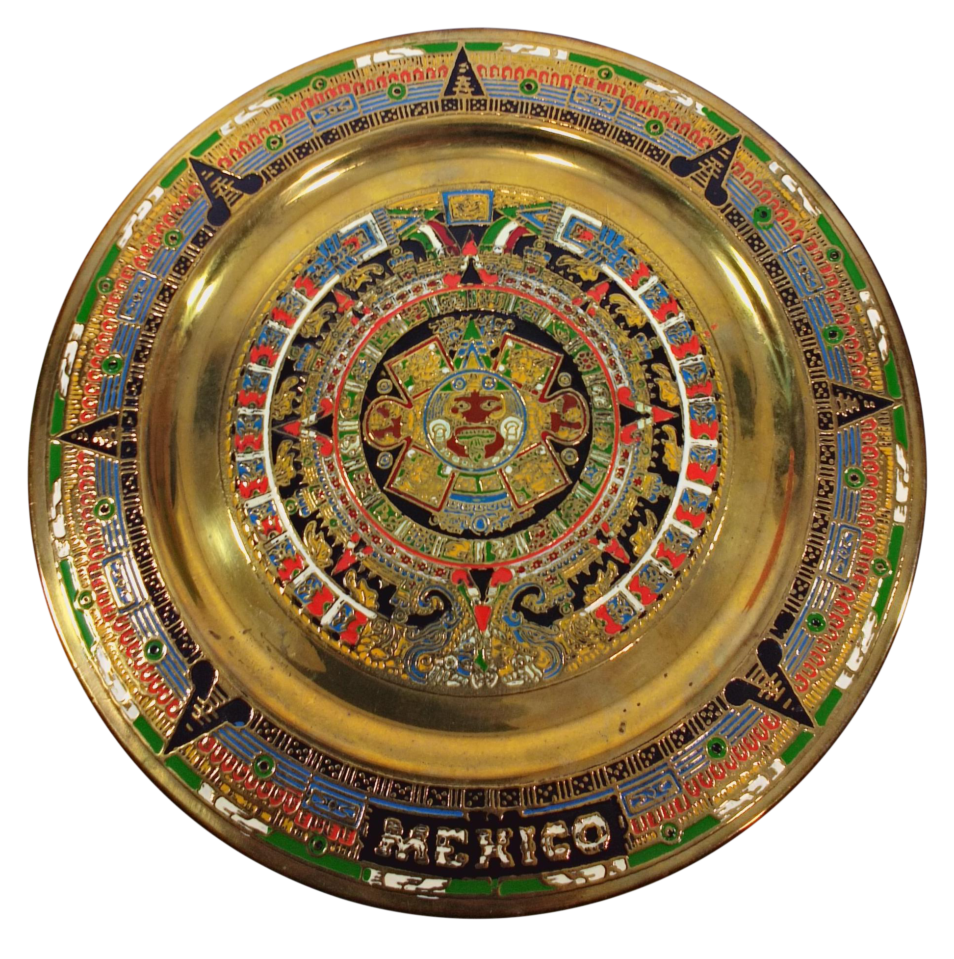 sc 1 st  Chairish & Mexican Aztec Mayan Brass Wall Plate/Catchall Dish | Chairish