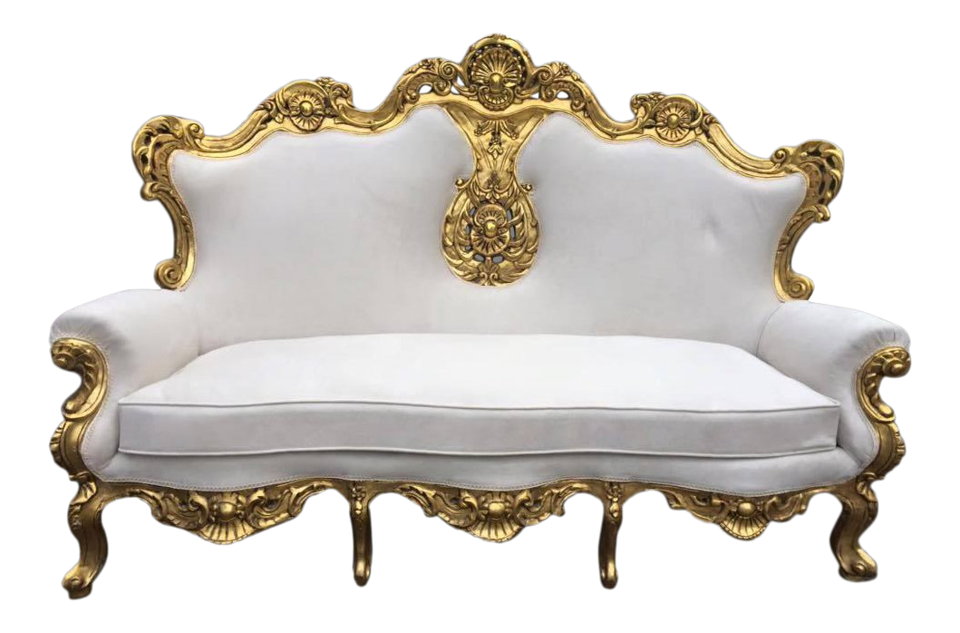 1940s Vintage Italian Rococo Baroque Style Sofa | Chairish