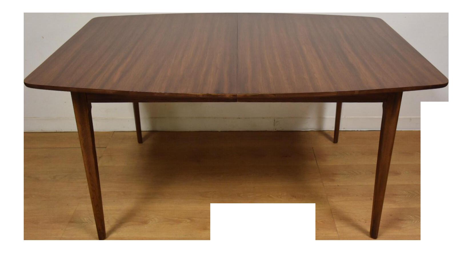 Mid Century Walnut Dining Table Chairish