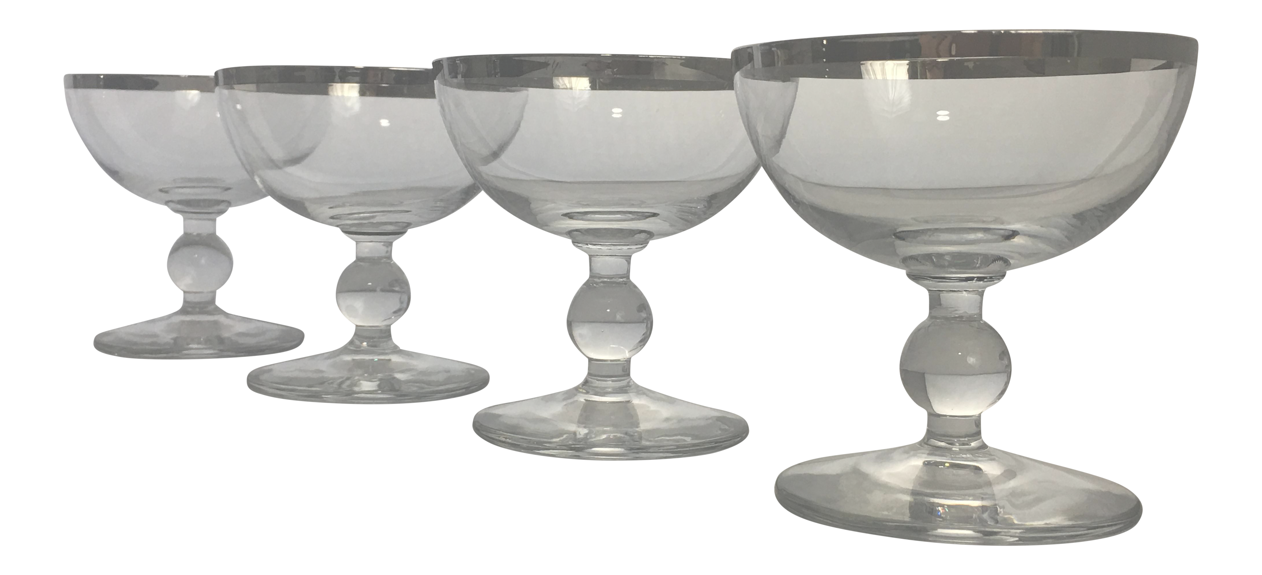 Vintage Crystal Cocktail Glassware Set Of 4 Chairish