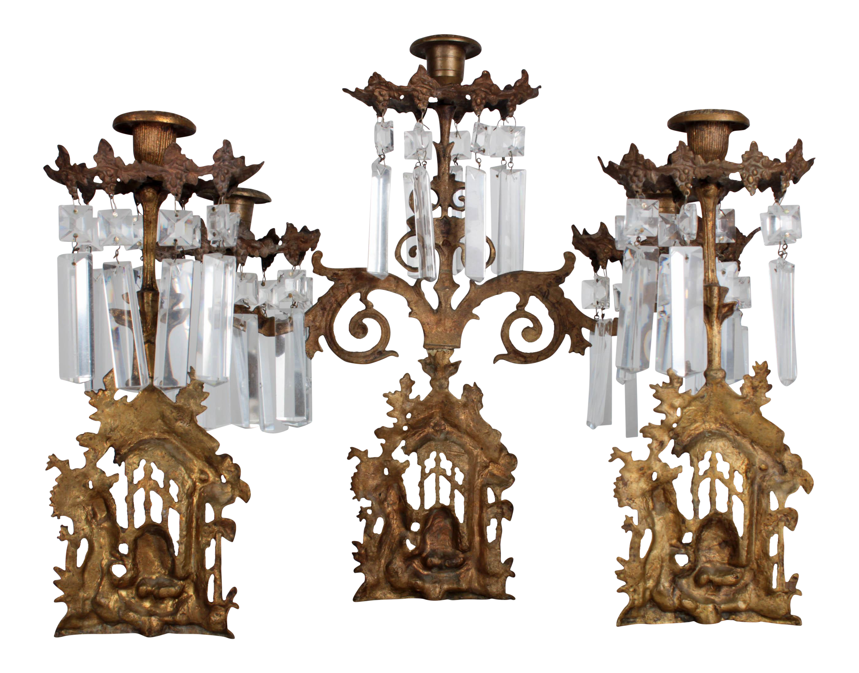 Vintage & Used Neoclassical Candle Holders