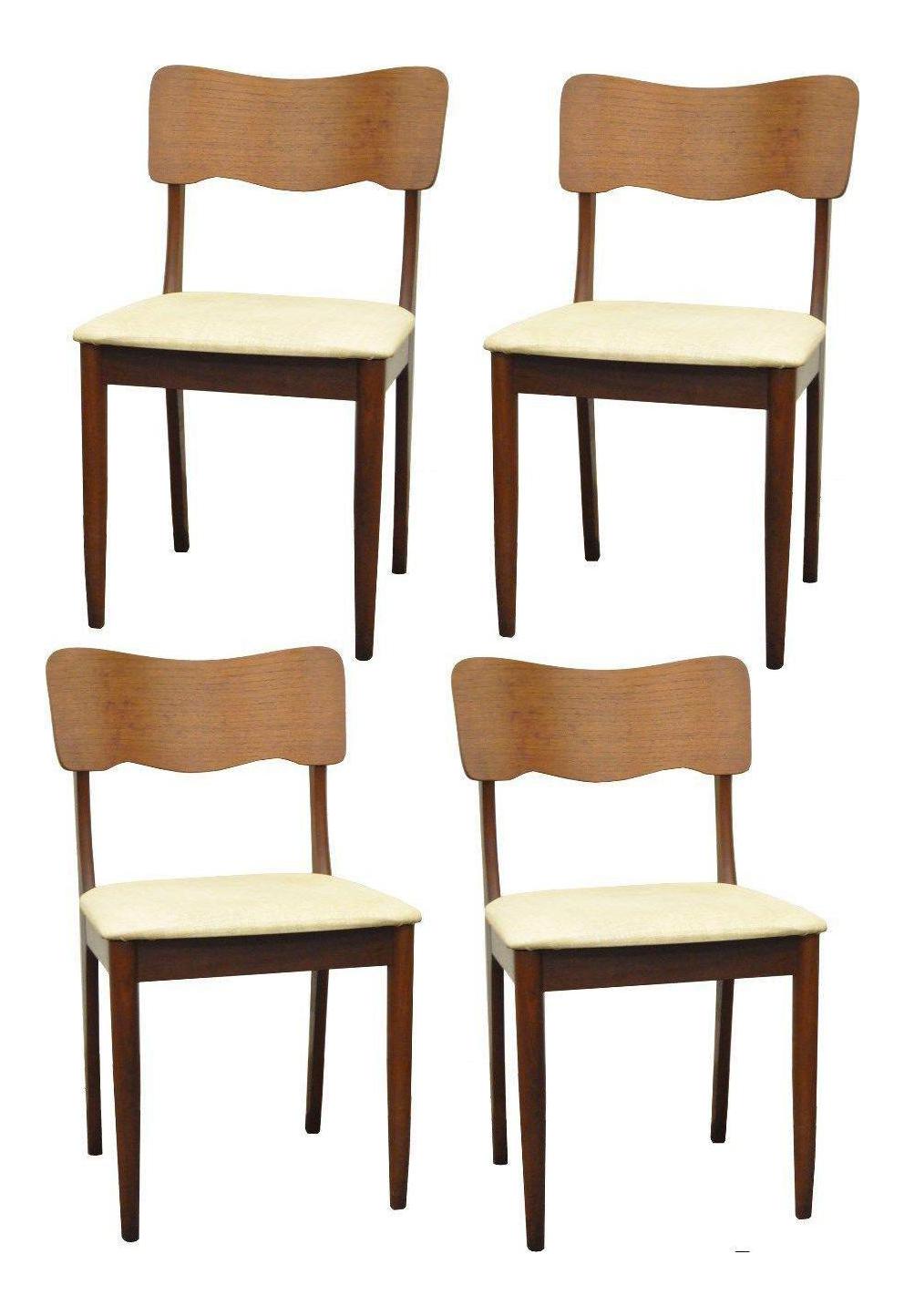 Gustav bahus norway mid century danish modern teak ribbon for Modern dining chairs ireland