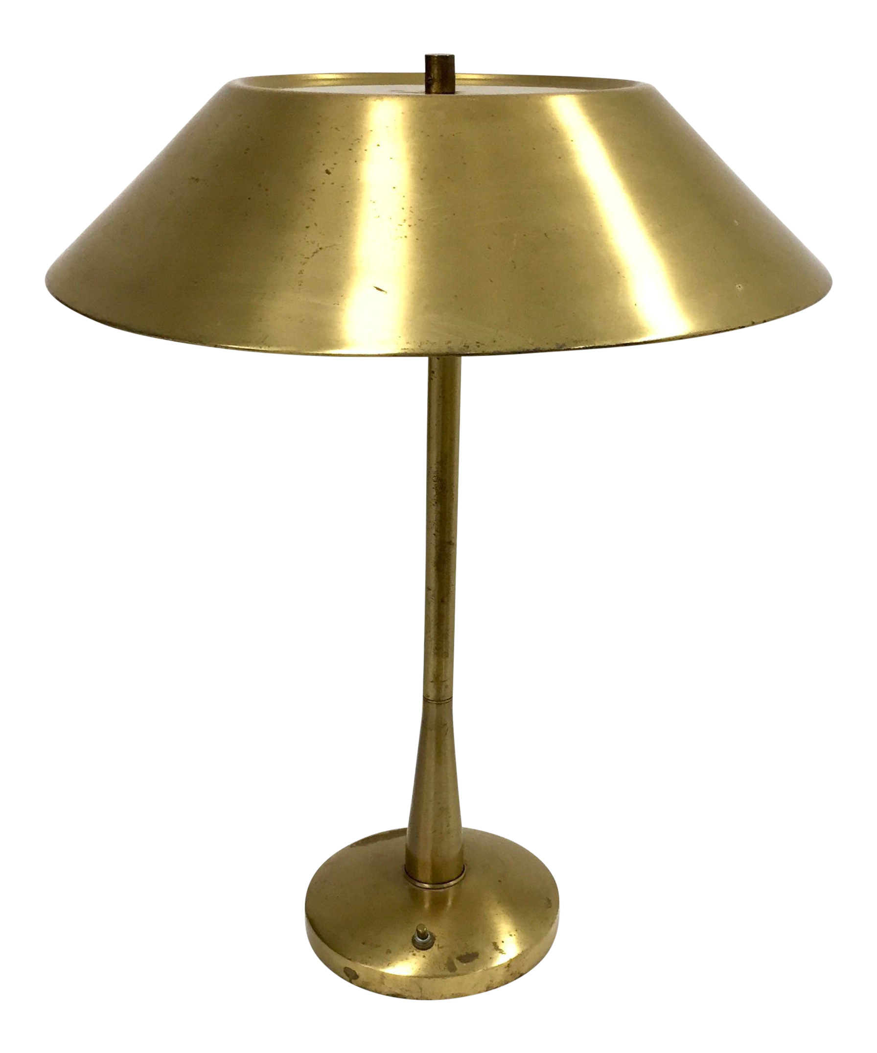 1950s Mid Century Modern Mutual Sunset Brass Table Lamp Chairish