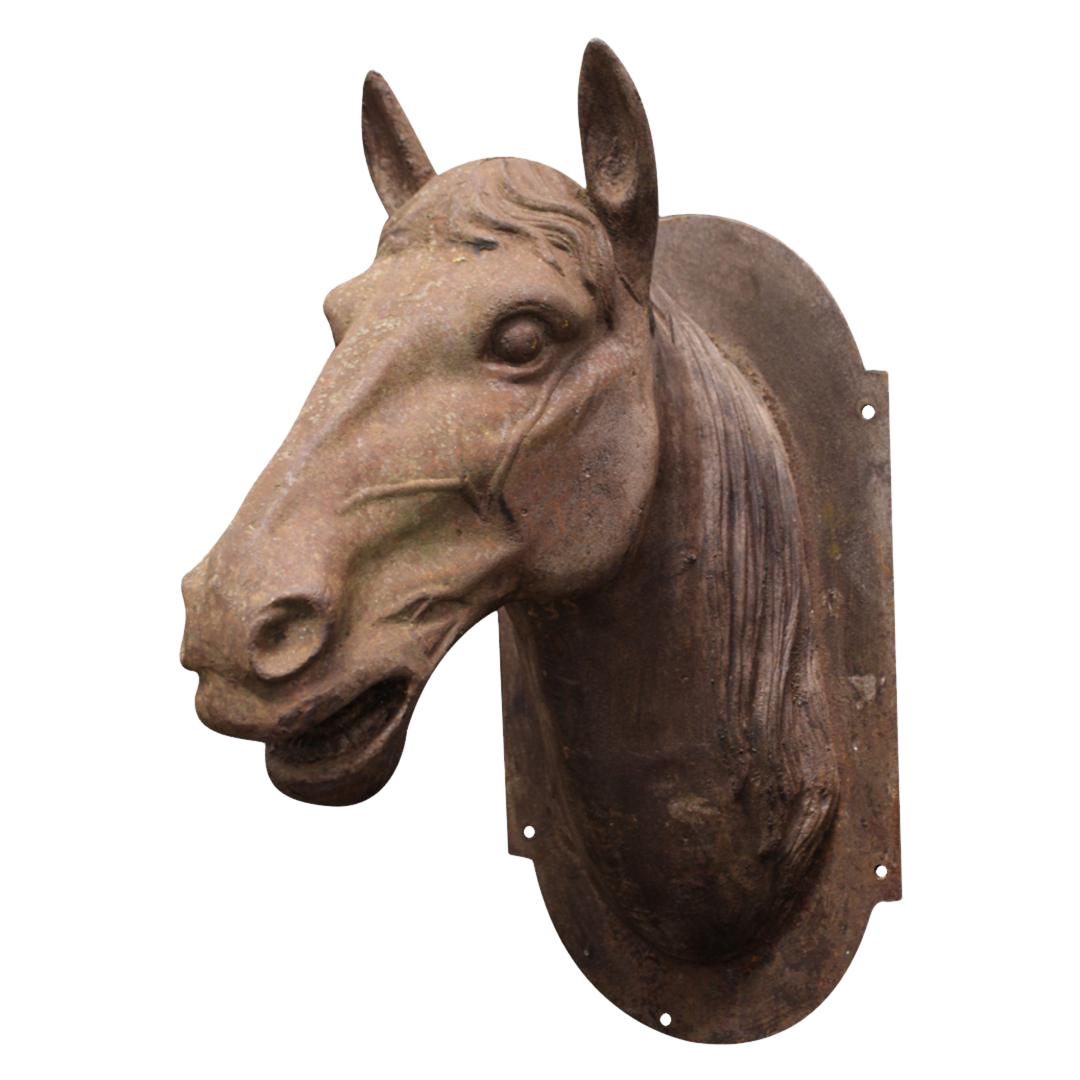 Cast Iron Horse Head Sculpture Chairish