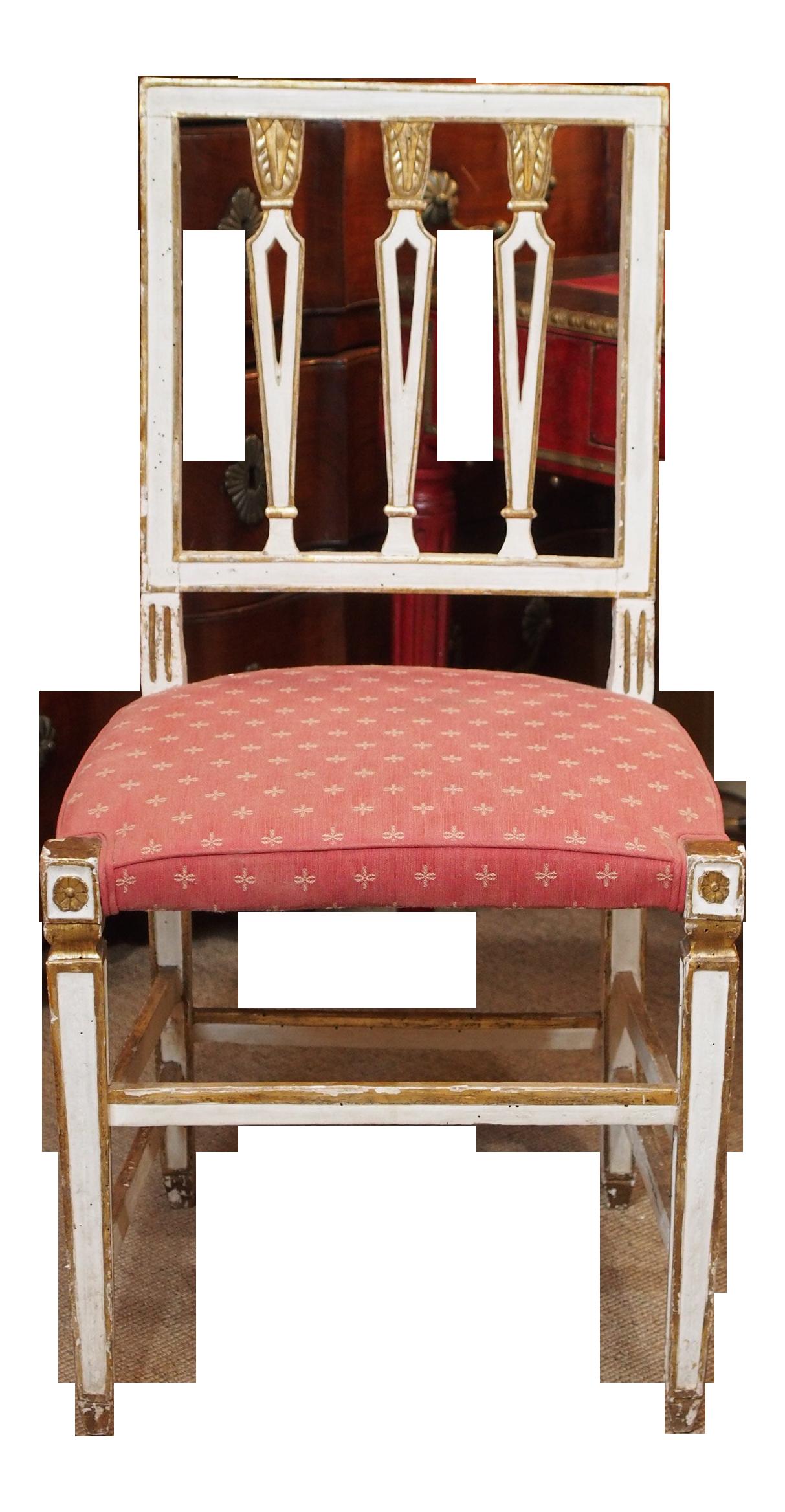 19th Century Italian Dining Room Chairs, Set of Eight