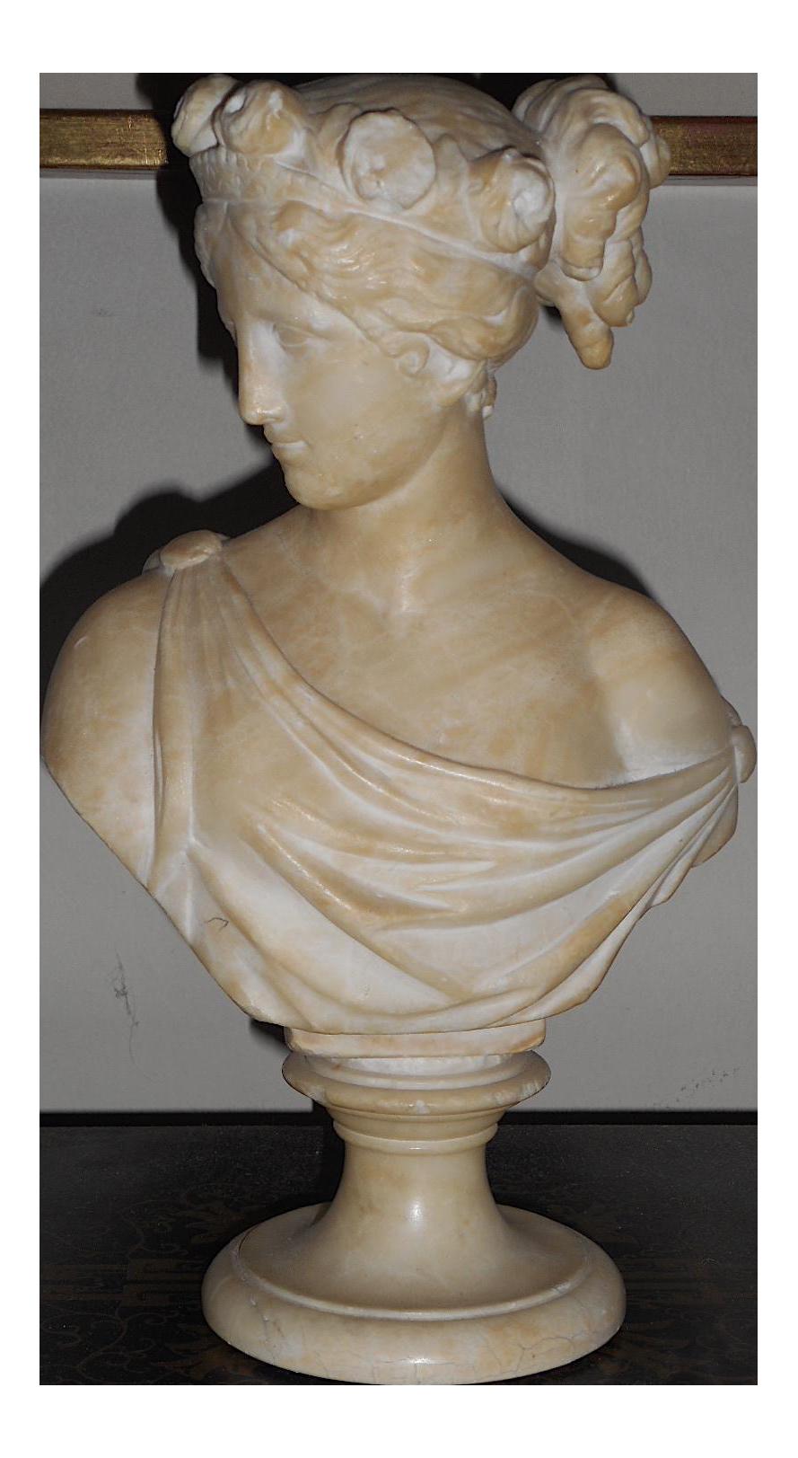 Original Antique Marble Sculpture Female Bust Chairish