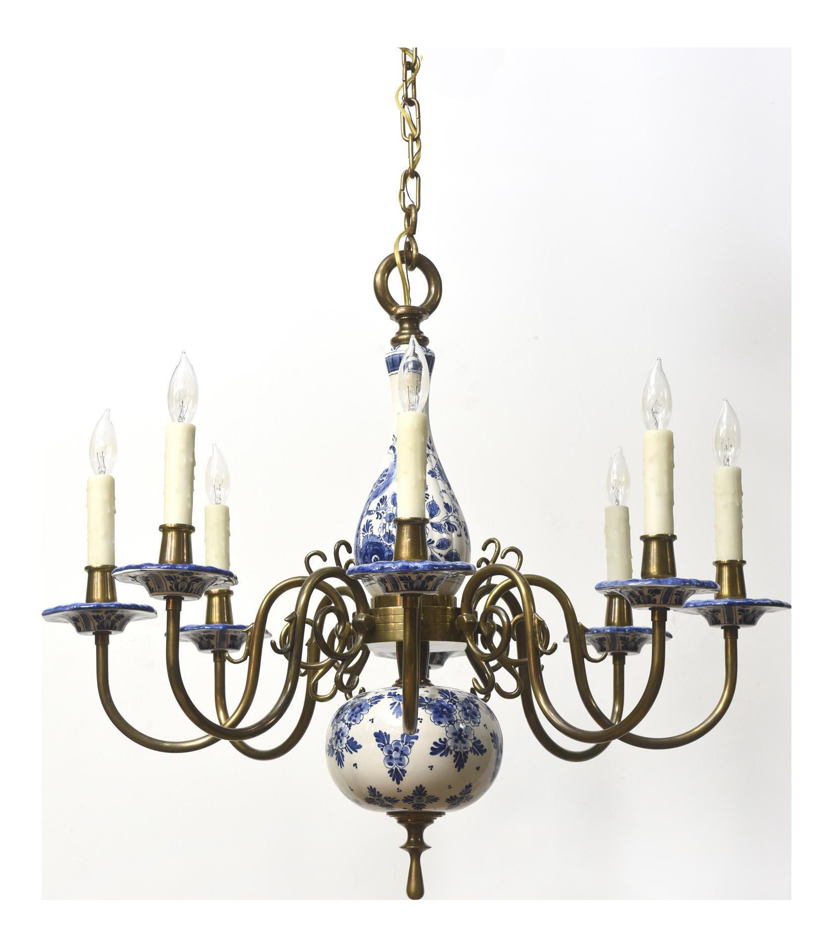 Delft blue white chandelier chairish arubaitofo Images