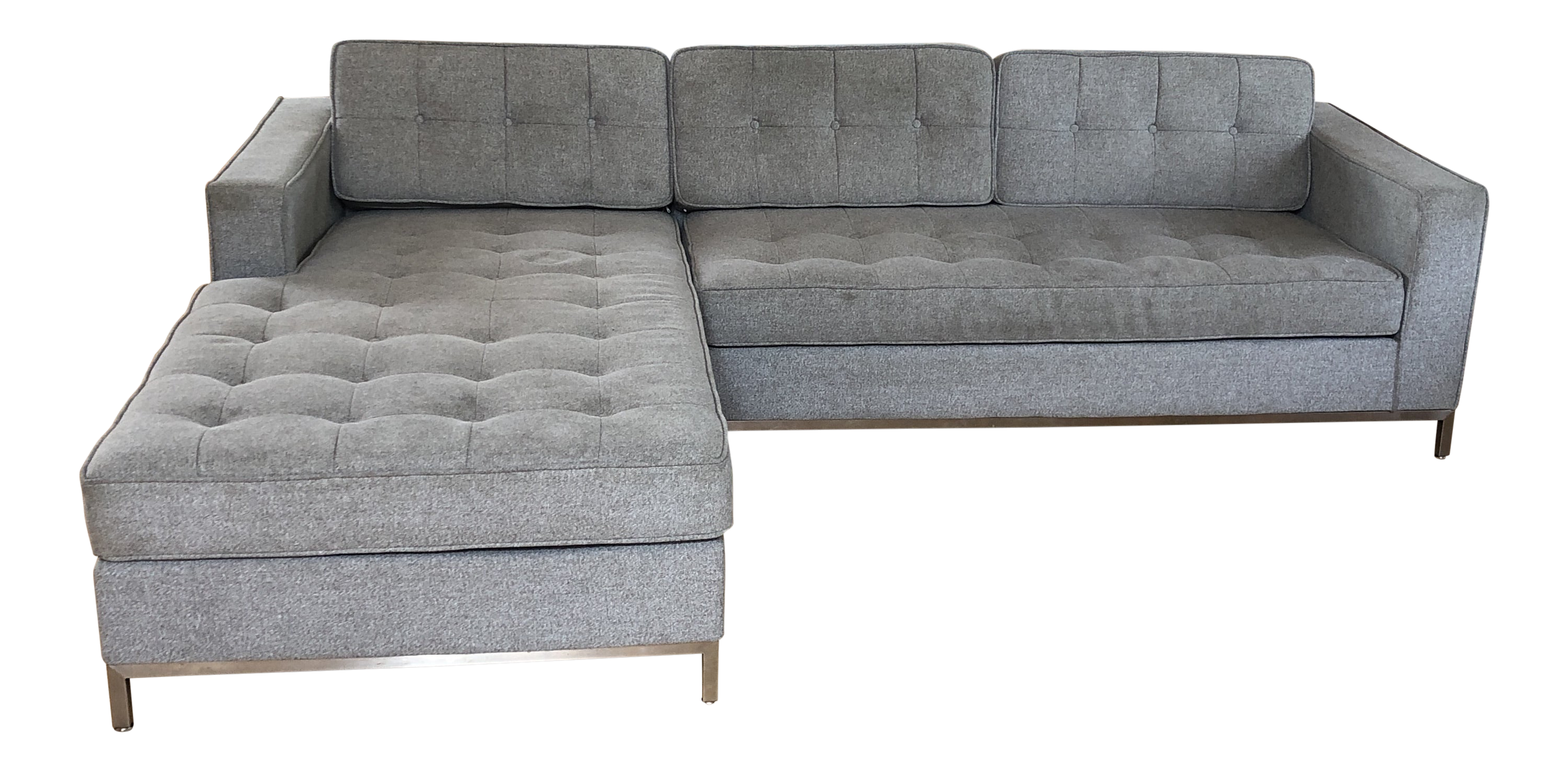 Brilliant Vintage Gus Modern Jane Bi Sectional Gray Sofa Unemploymentrelief Wooden Chair Designs For Living Room Unemploymentrelieforg