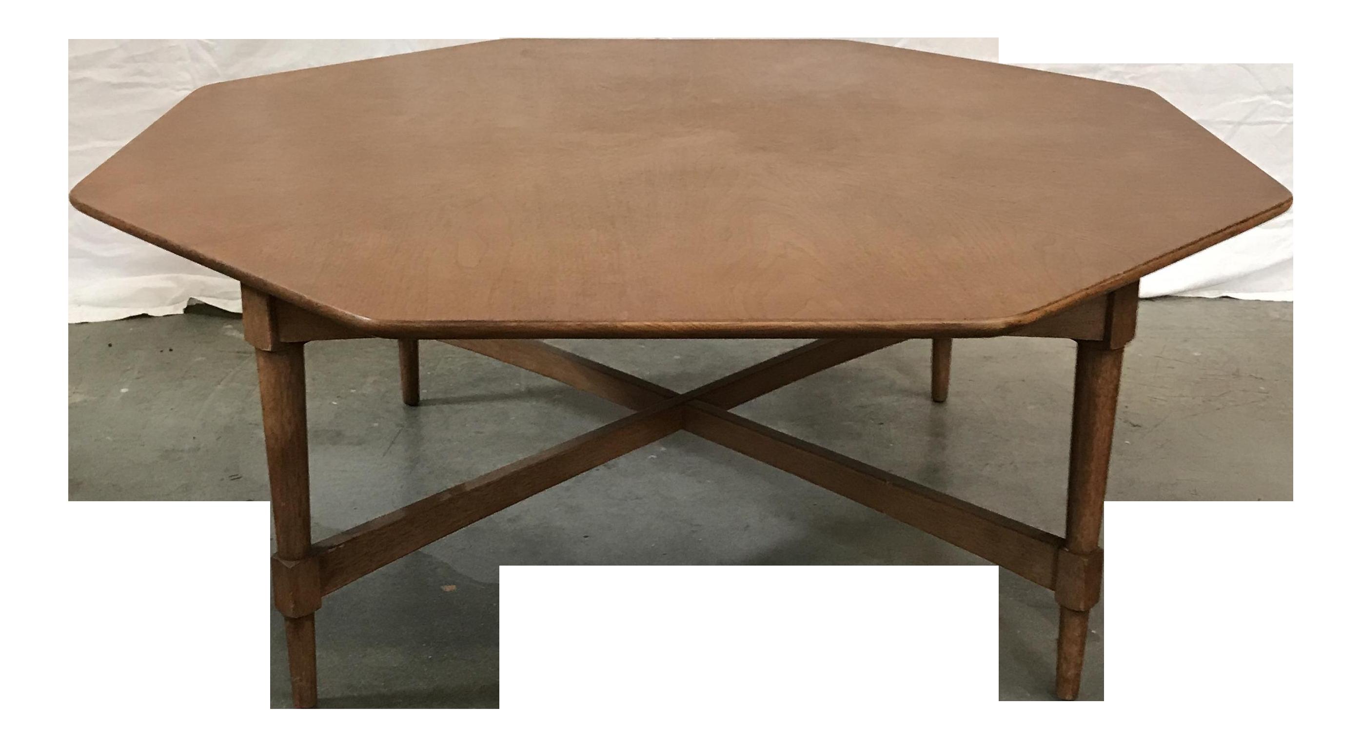 Mid Century Octagon Coffee Table