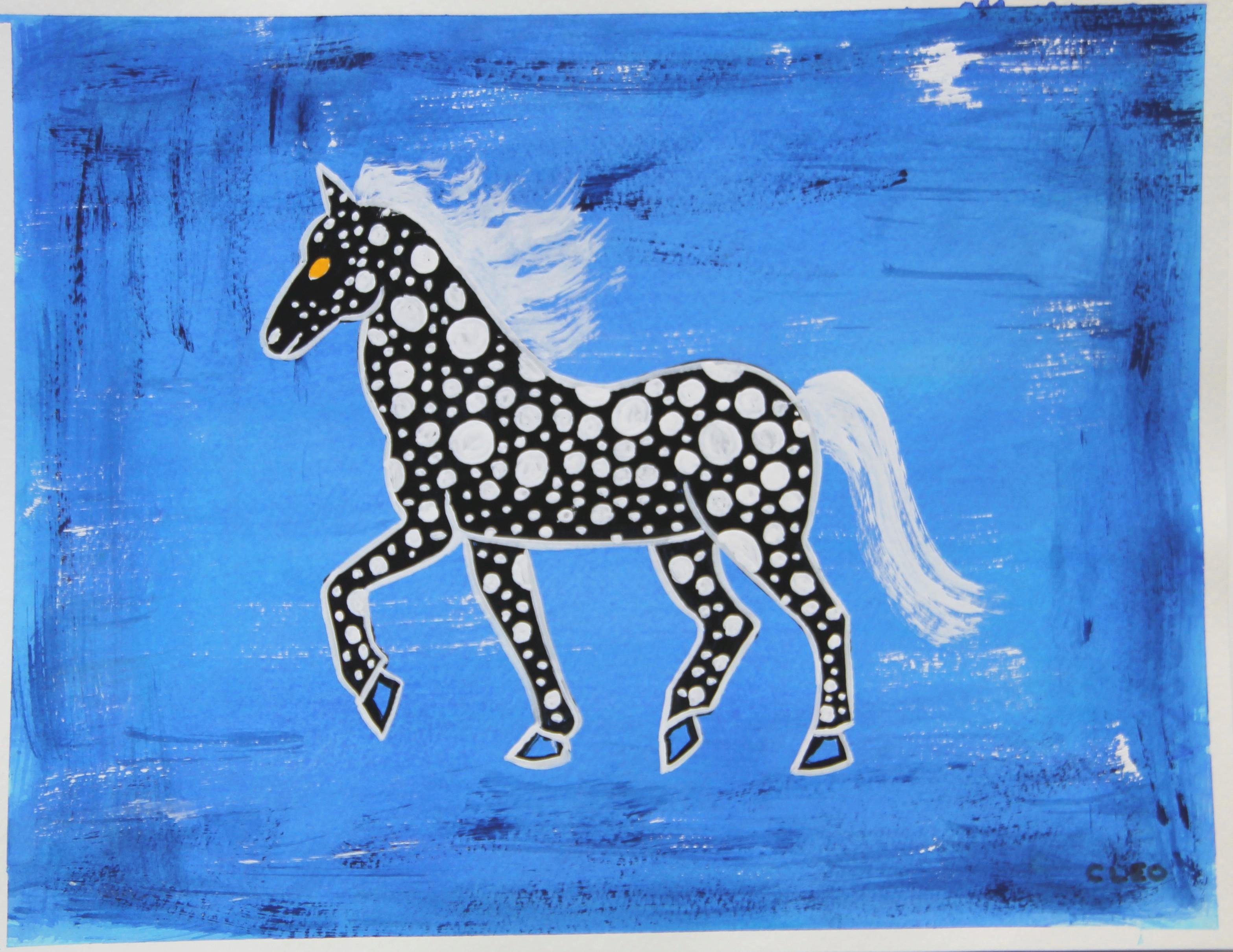 Chinoiserie Abstract Horse Painting By Cleo Plowden Chairish