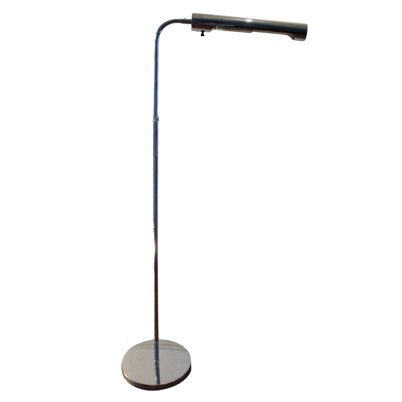 Koch lowy adjustable chrome floor lamp chairish for Darlington floor lamp chrome
