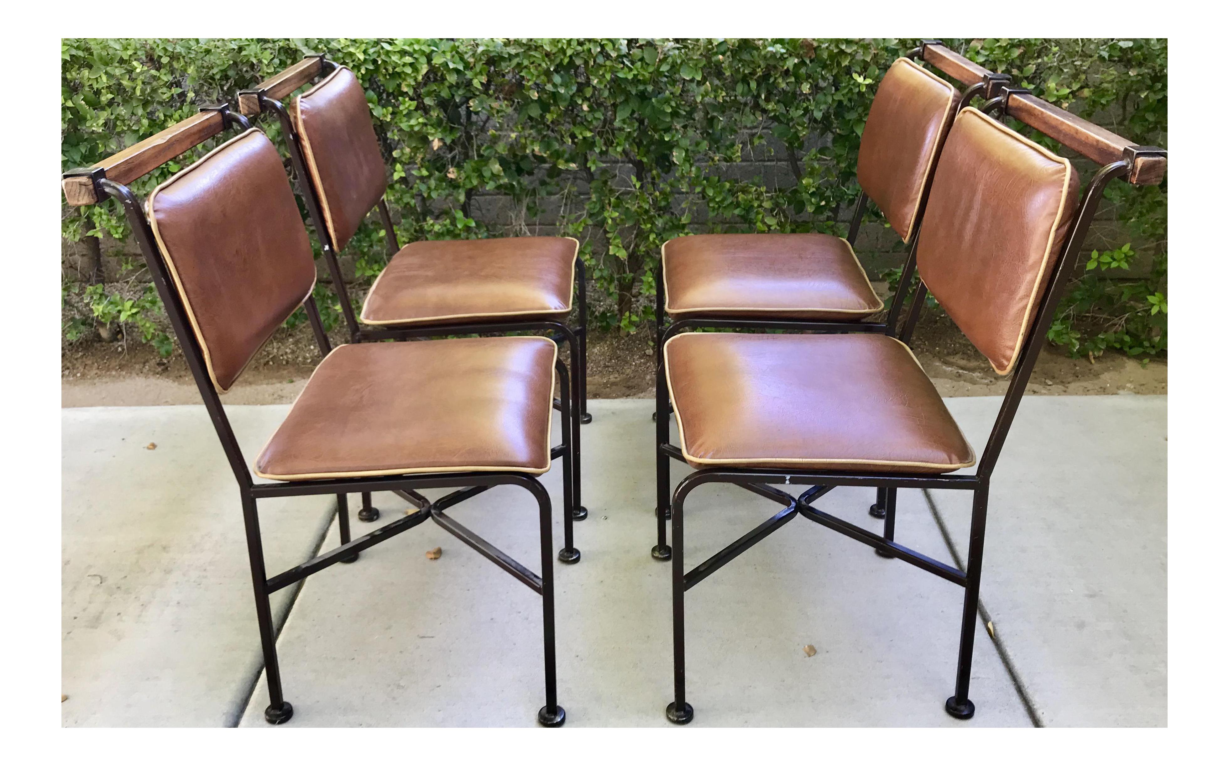 Rustic modern cleo baldon dining chairs set of 4 chairish for Modern dining chairs ireland