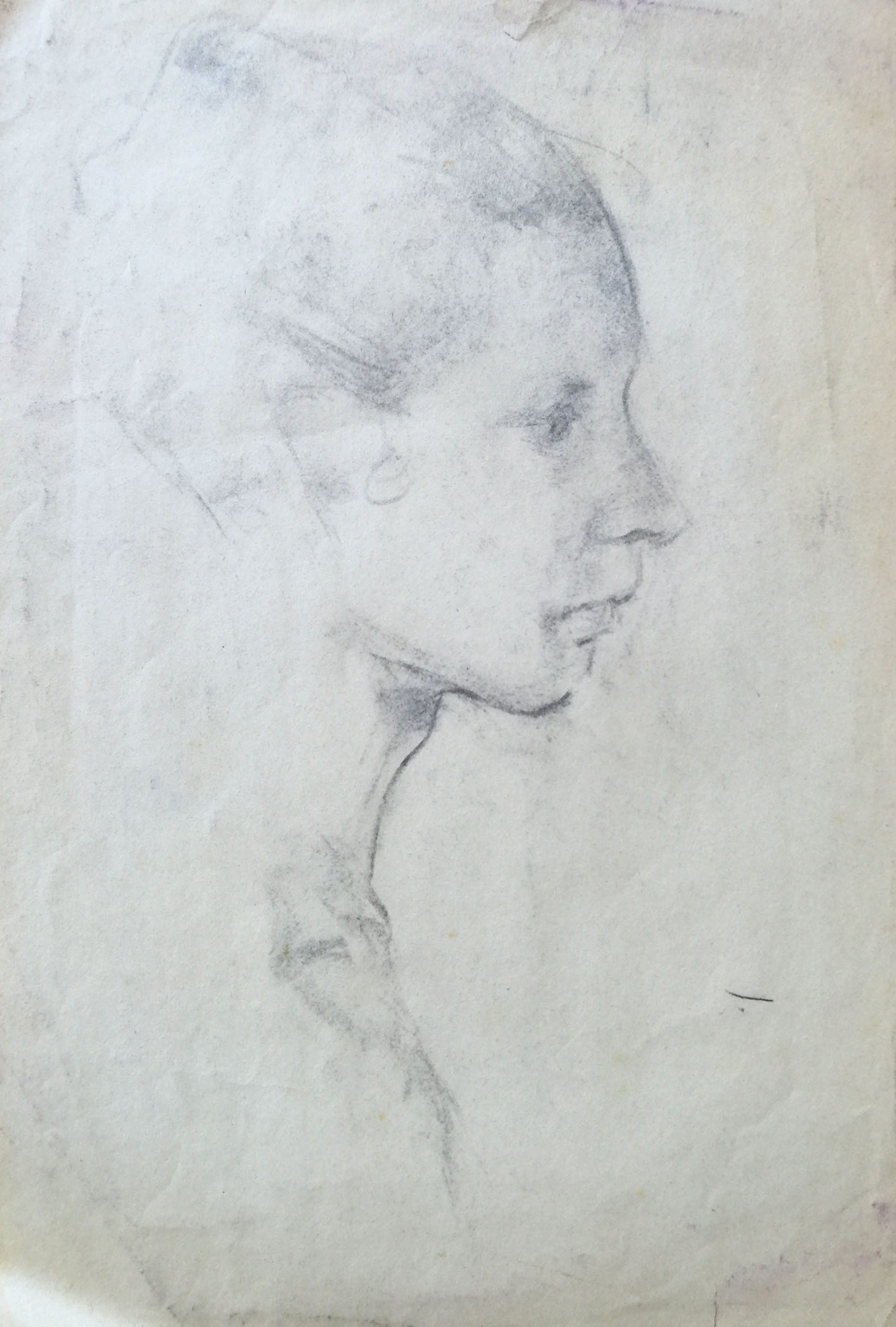 early 20th century classical portrait drawing chairish