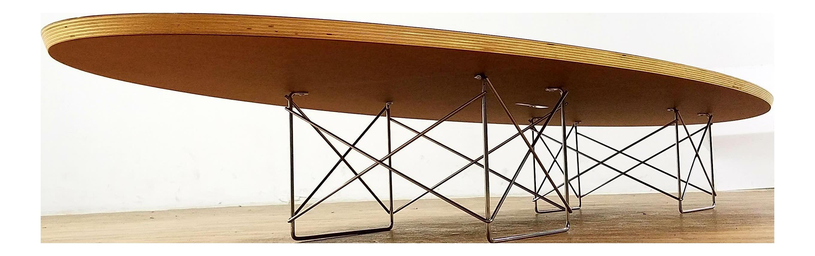 Eames Herman Miller Elliptical Surfboard Coffee Table