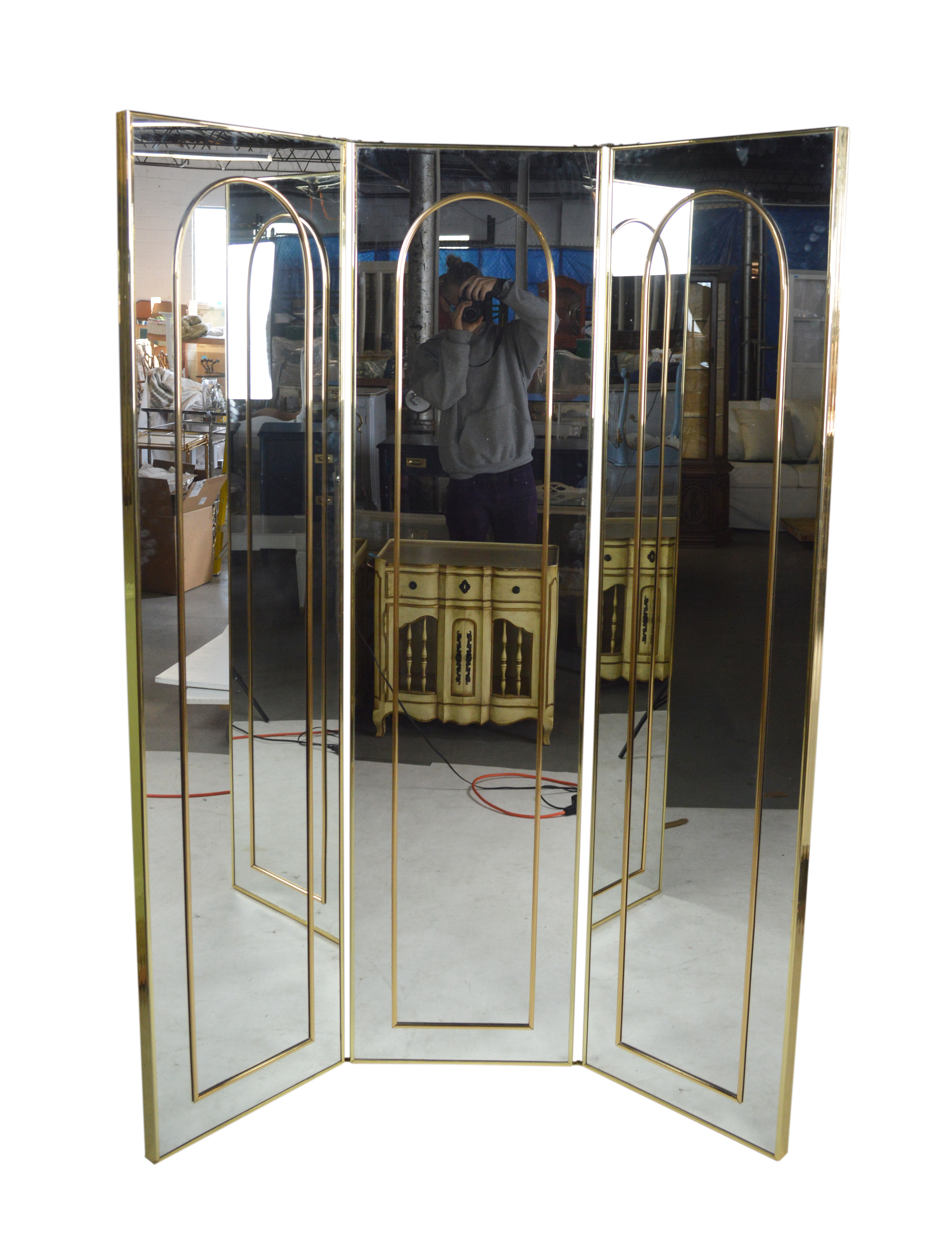 Mirror Brass Room Divider Chairish
