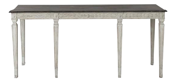 2c400d40202b7 Distinguished 19th Century Swedish Late Gustavian Console Table With Hand  Painted Porphyry Top