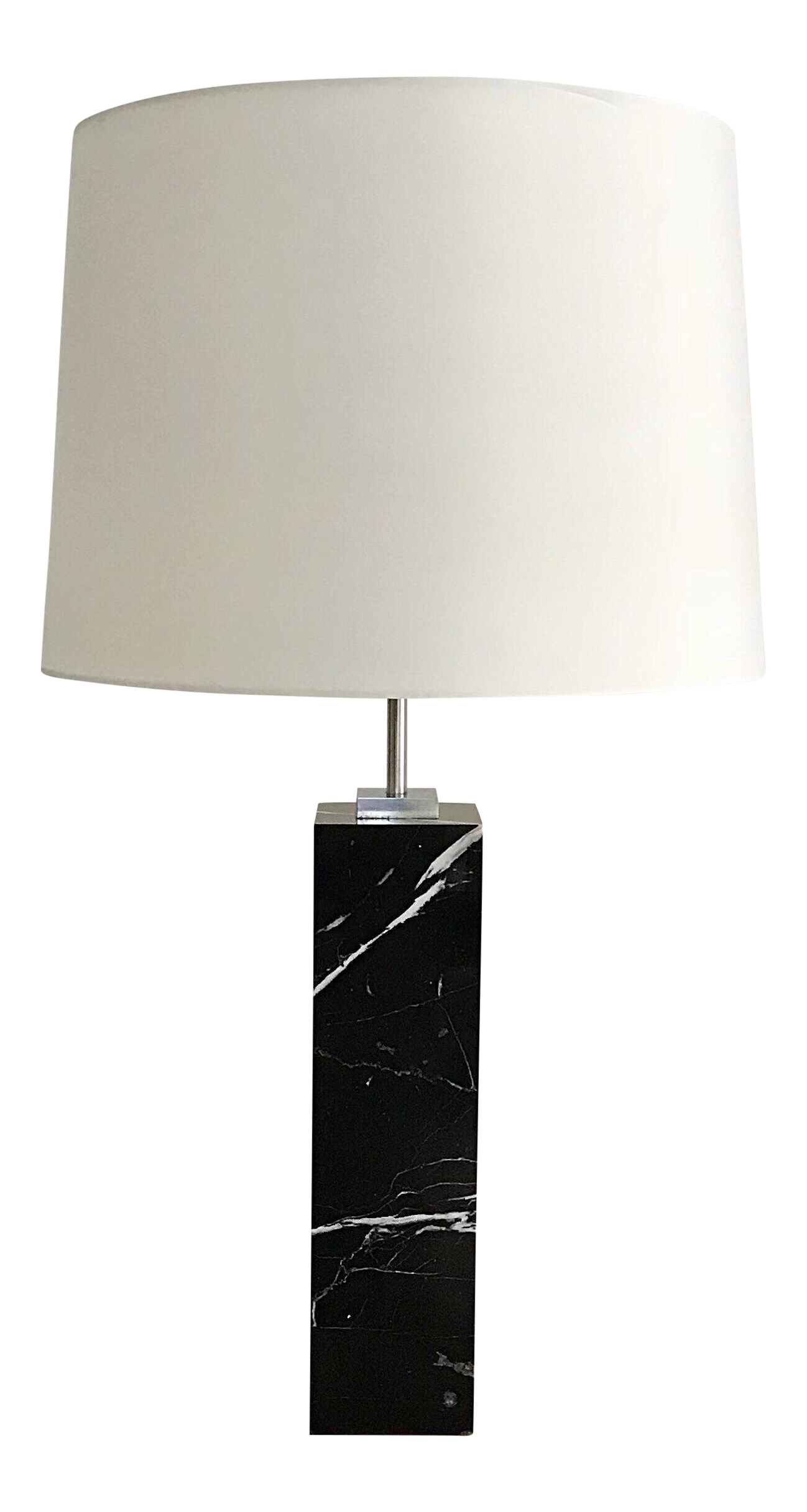 Hansen Black Marble Table Lamp Chairish