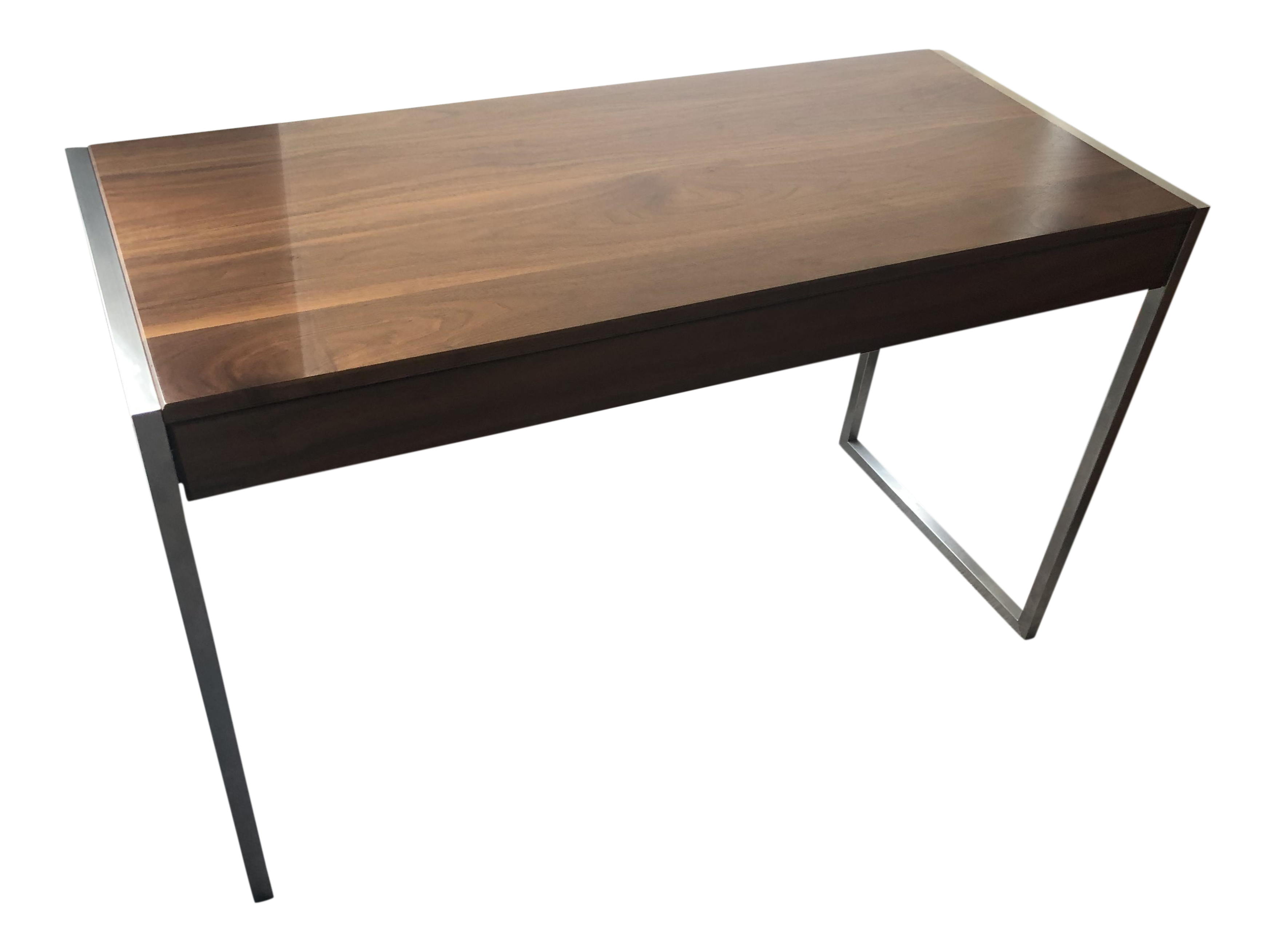 contemporary room board walnut basis desk chairish rh chairish com room and board desk chair room and board leaning desk