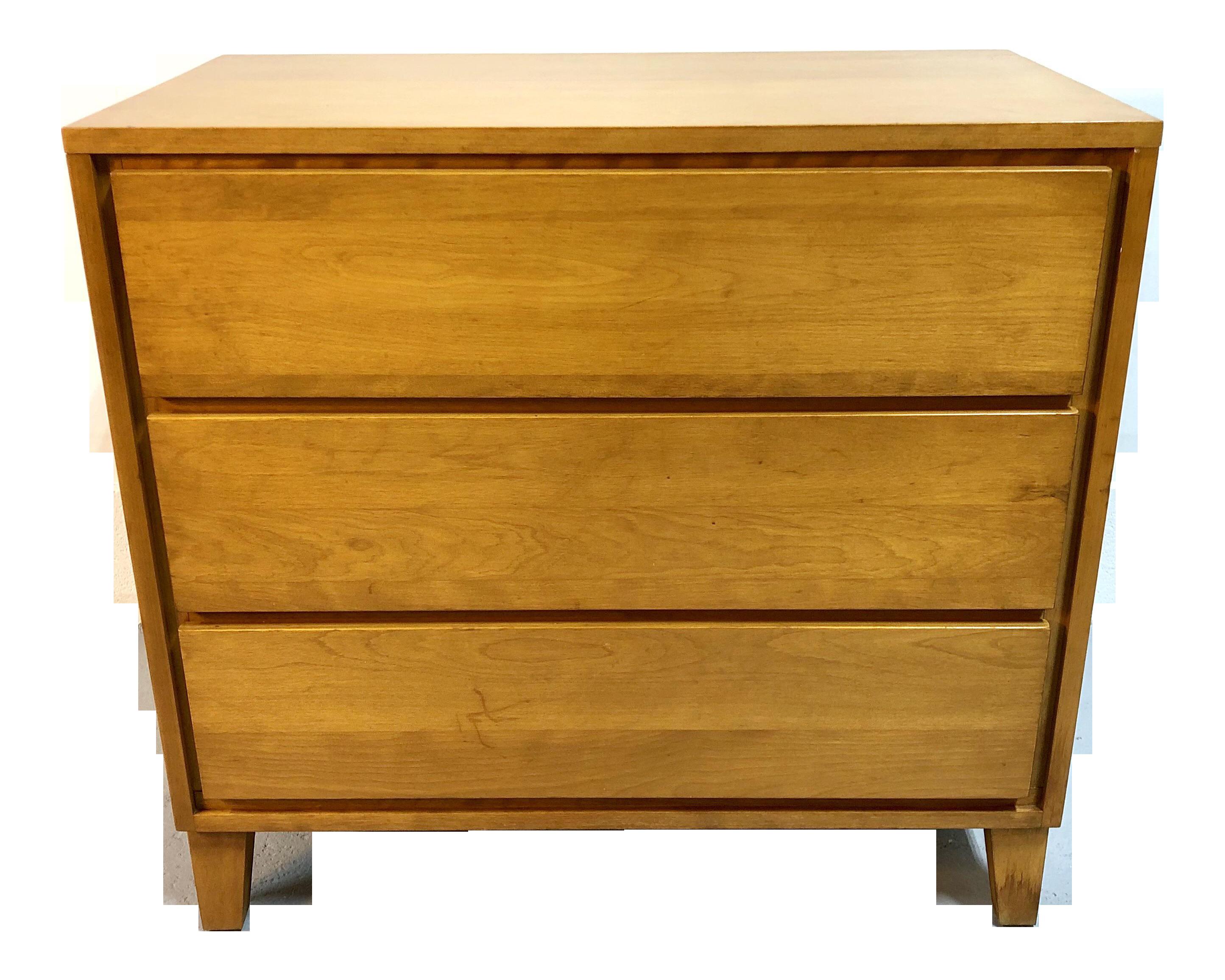 Mid Century Modern 3 Drawer Dresser By Conant Ball Chairish