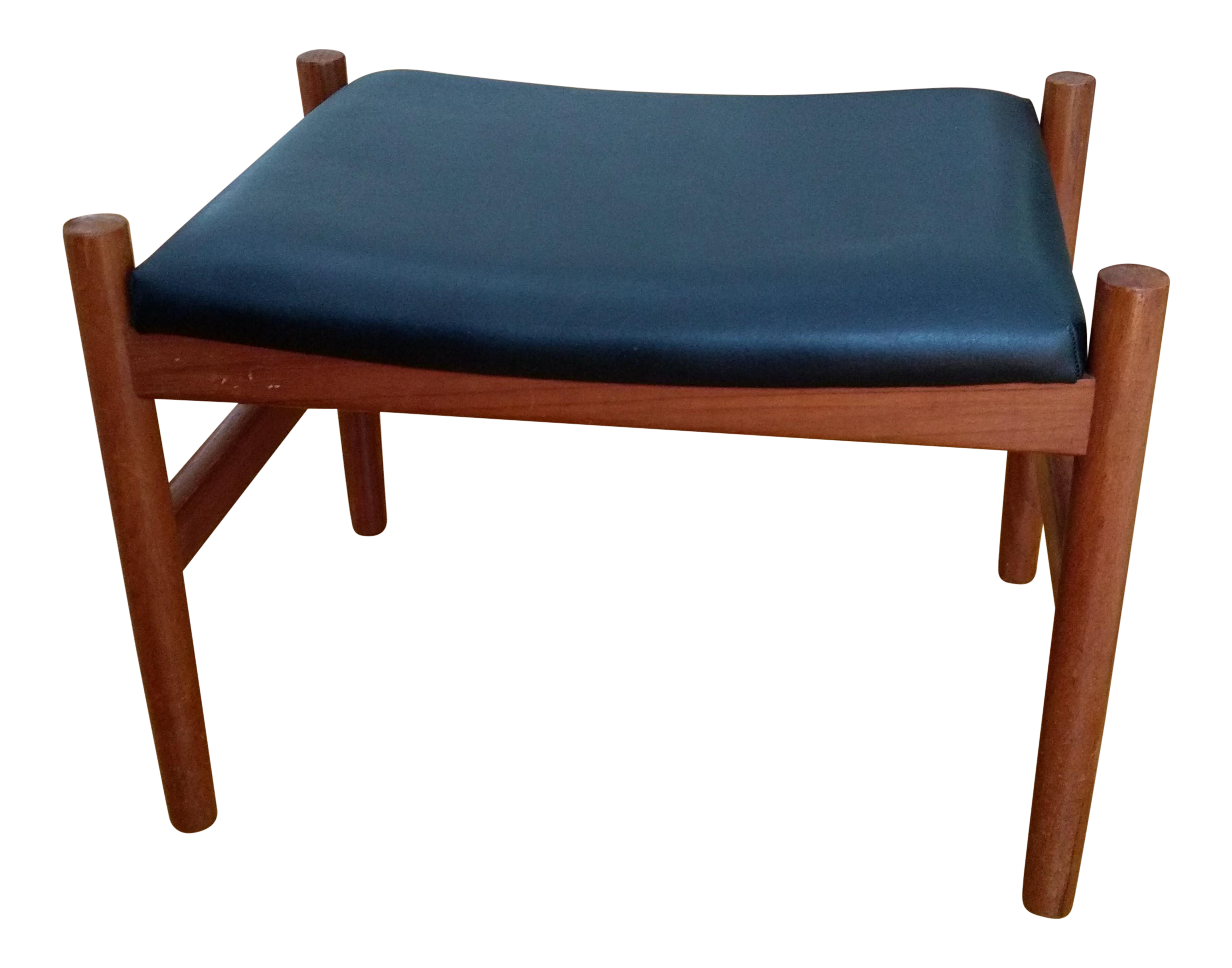 Vintage Danish Modern Teak Spottrup Stool Chairish
