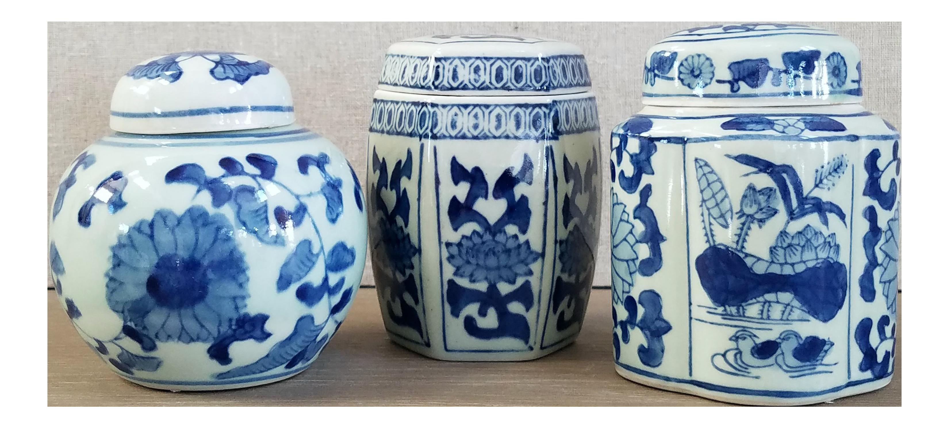 Petite Chinoiserie Ginger Jars - Set of 3   Chairish