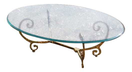 Brass Glass Swirl Base Coffee Table Chairish