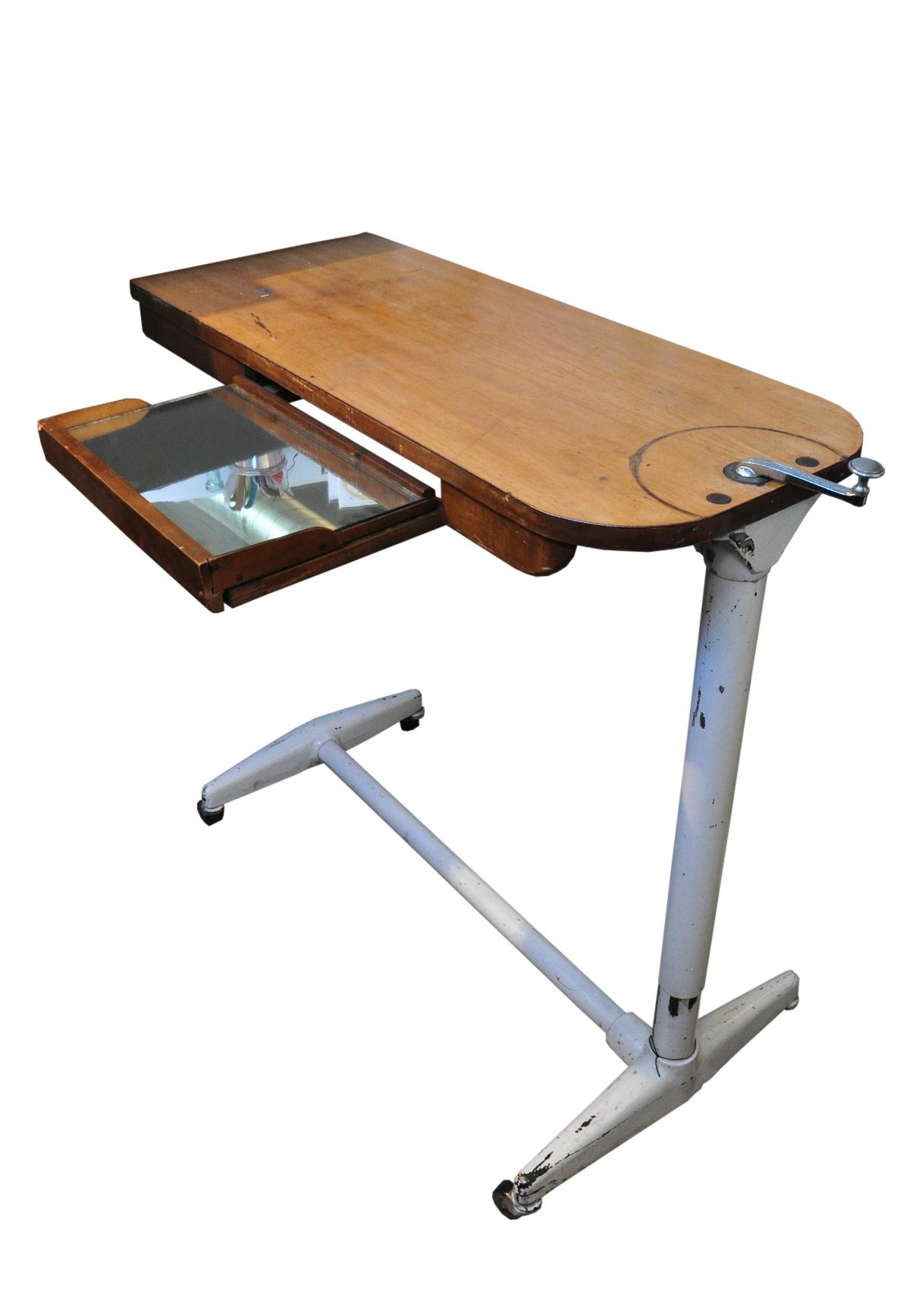 Vintage Hospital Bedside Table Chairish