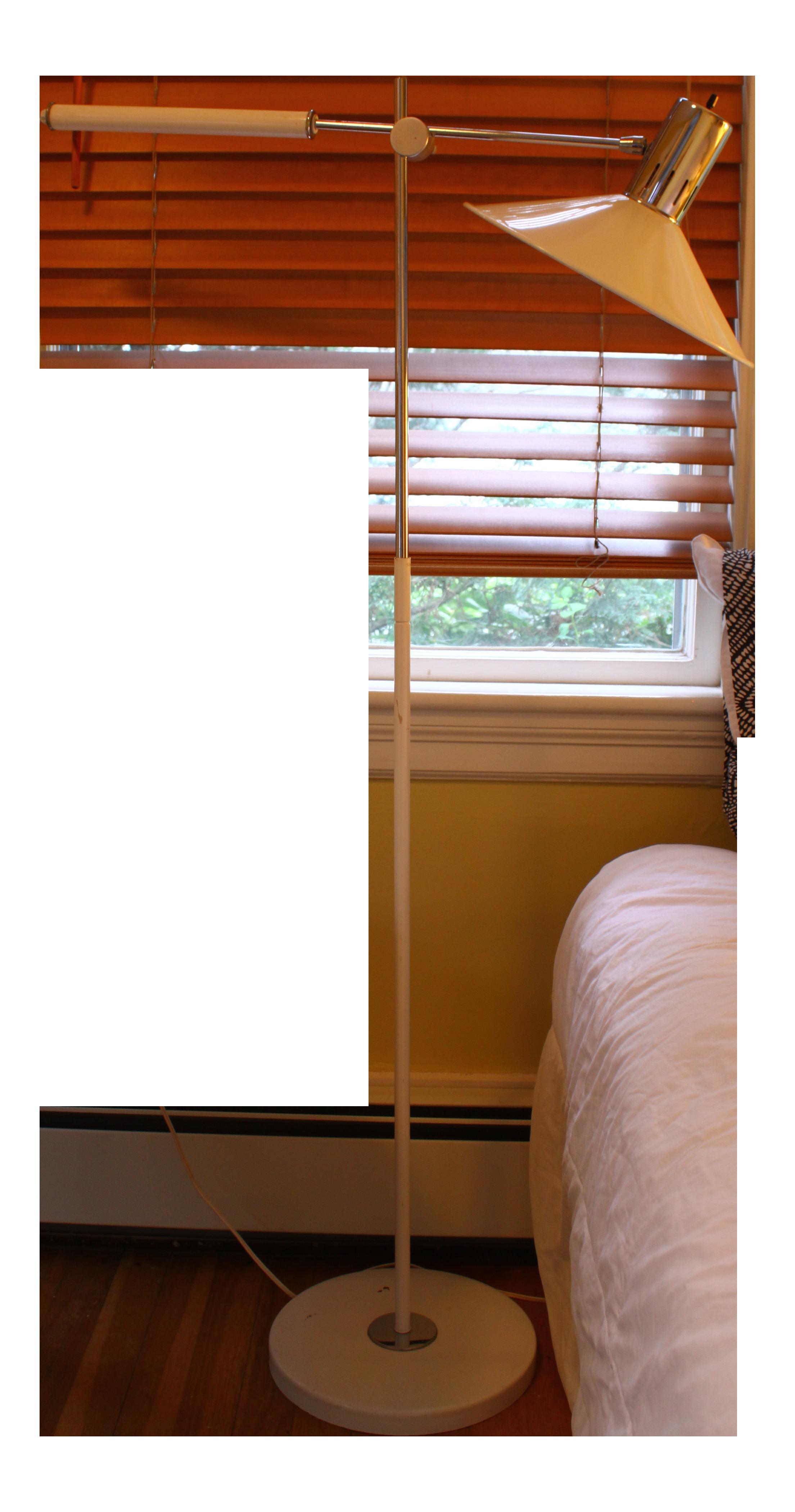 mid century italian swing arm floor lamp chairish - Mid Century Modern Floor Lamp