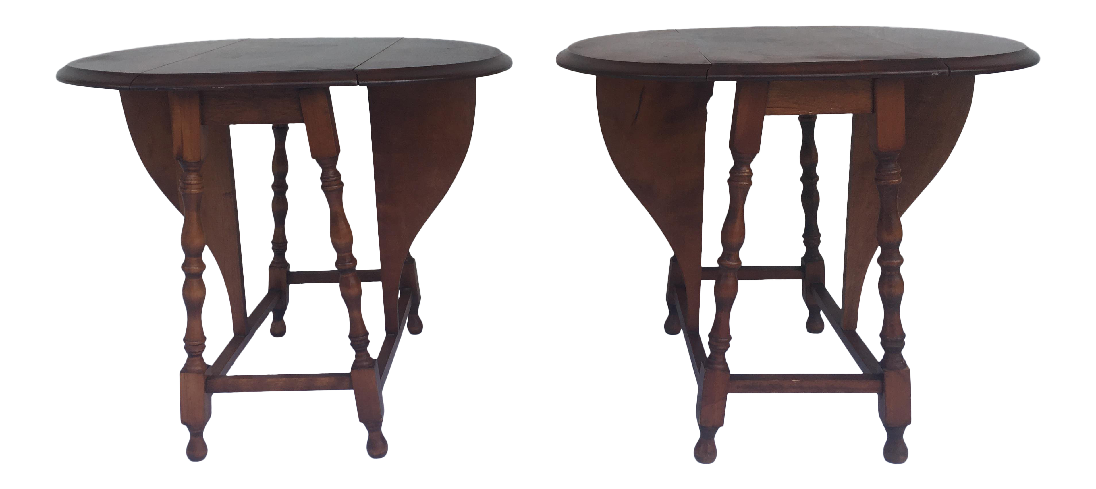 save off 866d0 97484 Small Miniature Drop Leaf Side Tables- a Pair Early 20th Century Vintage